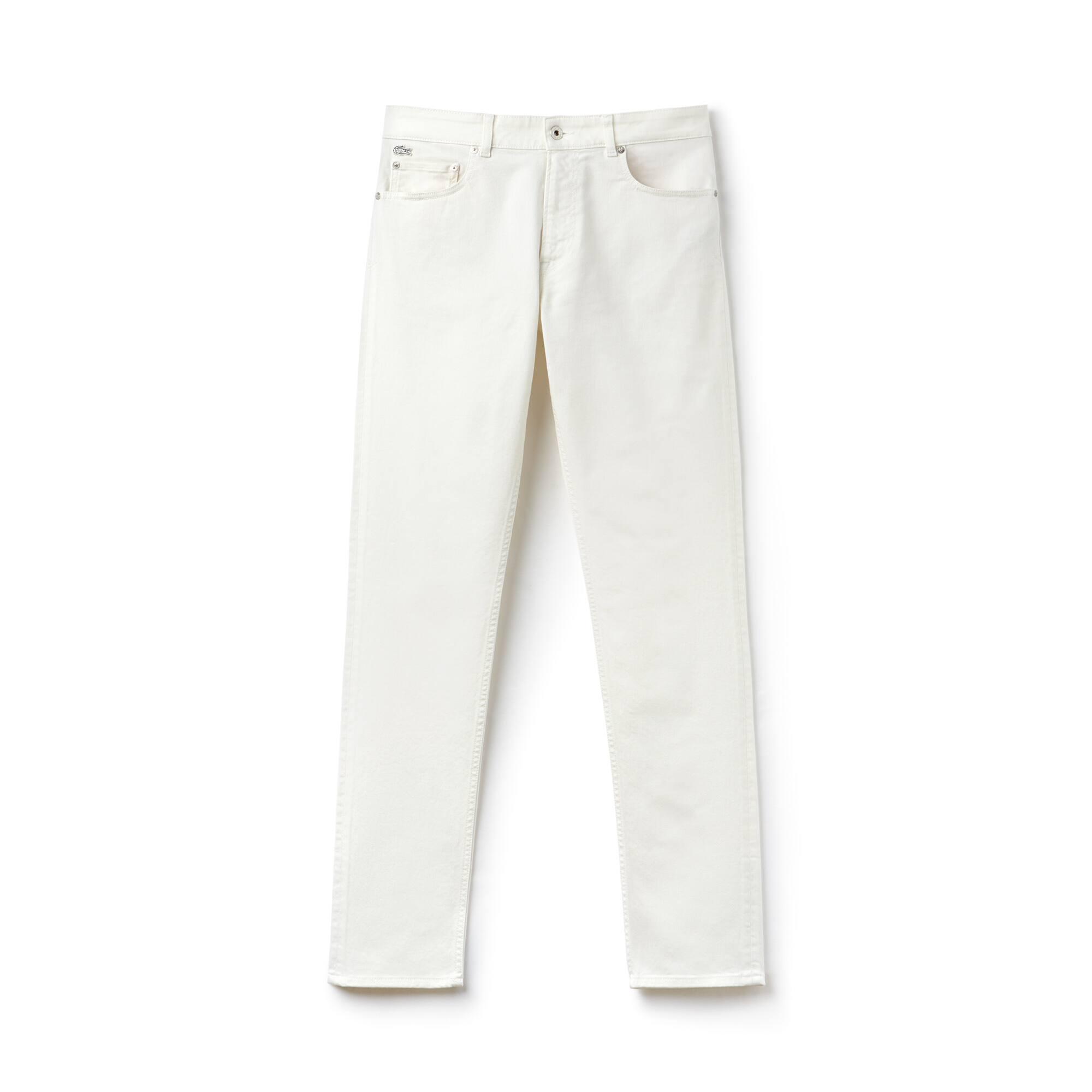 Herren Slim Fit 5-Taschen Stretchhosen aus Baumwolltwill