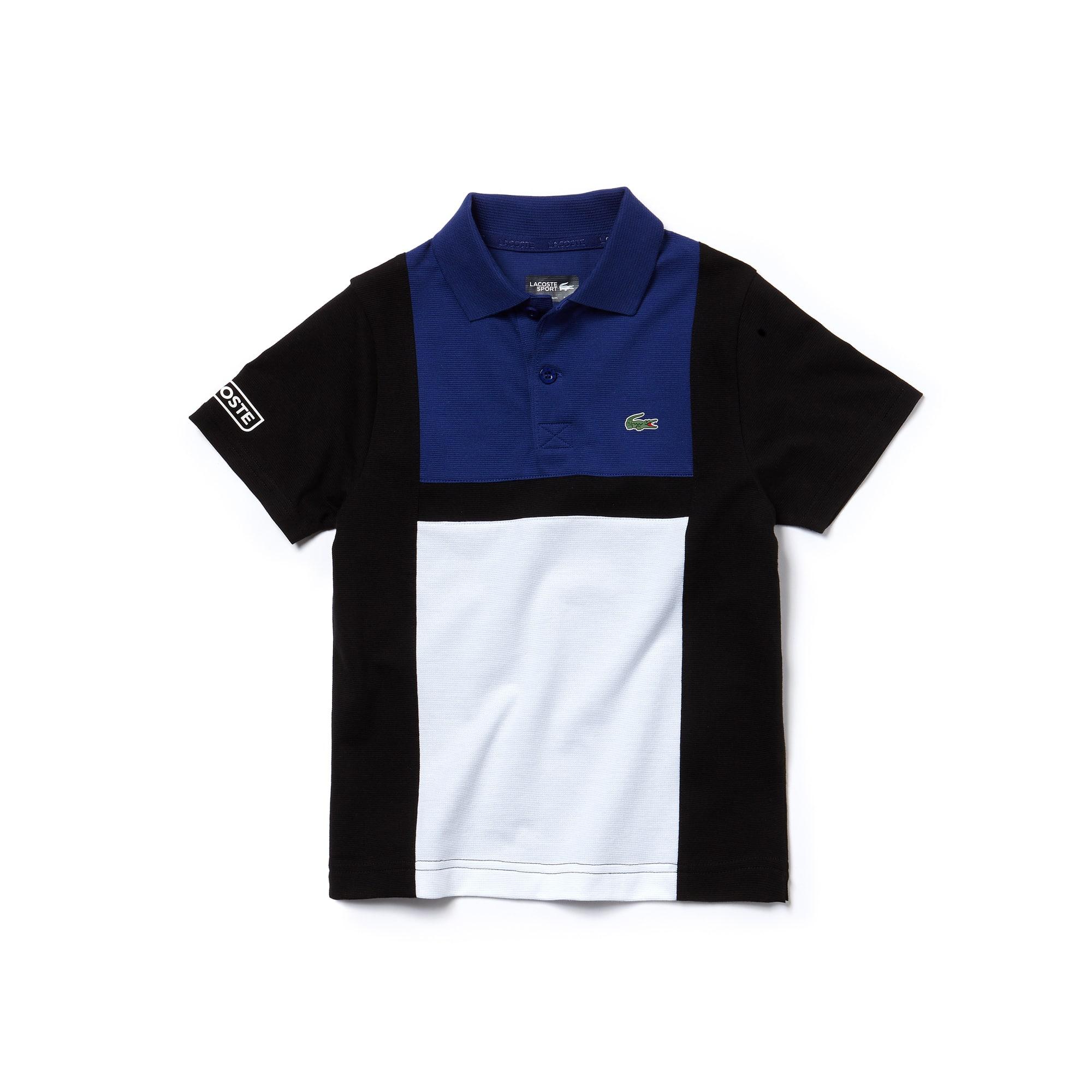 Jungen-Polo aus Baumwolle mit Colorblocks LACOSTE SPORT TENNIS