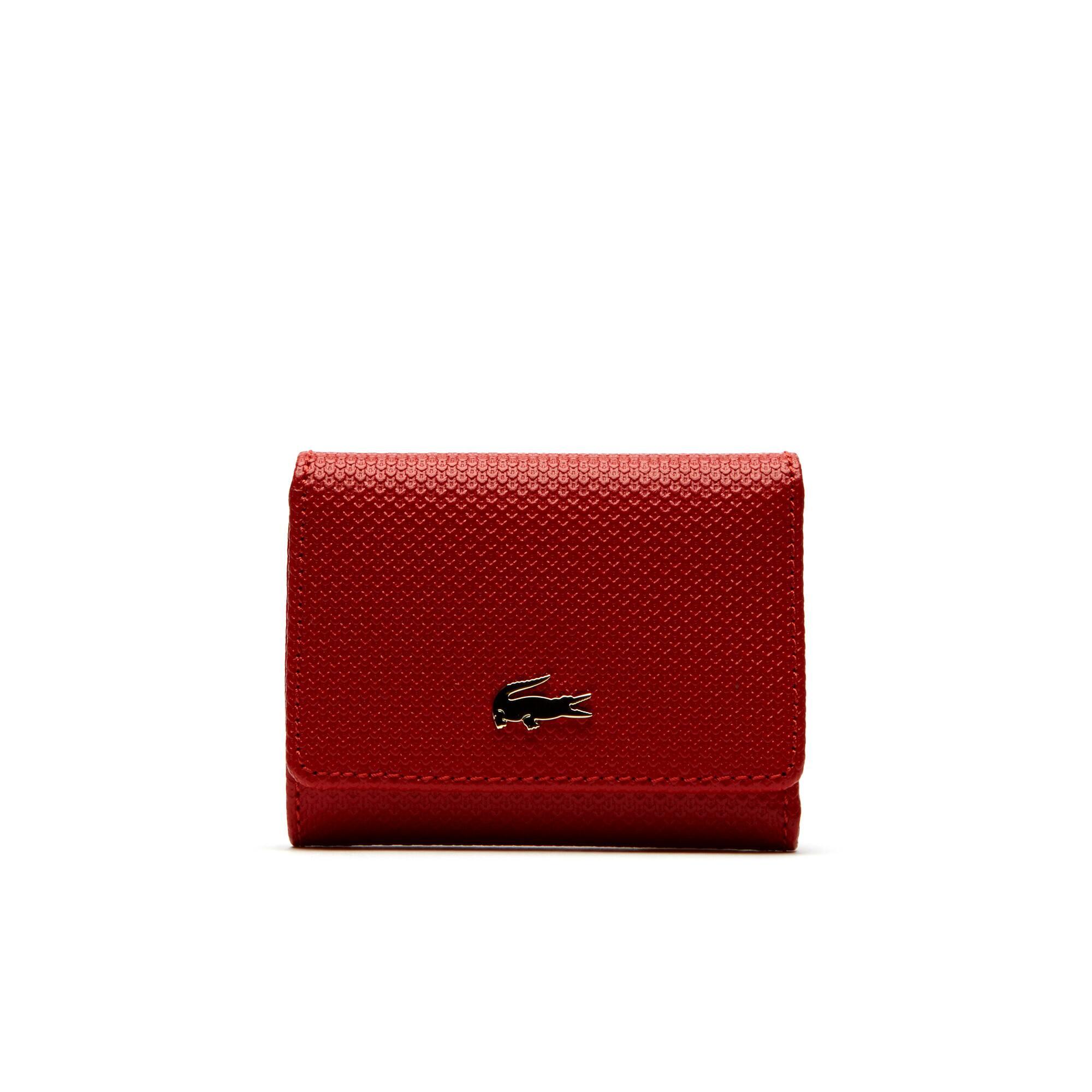 Damen-Brieftasche CHANTACO aus Piqué-Leder für sechs Karten