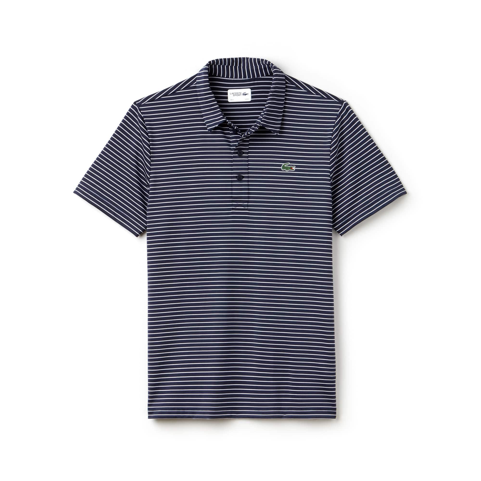 Herren LACOSTE SPORT gestreiftes Golf-Poloshirt