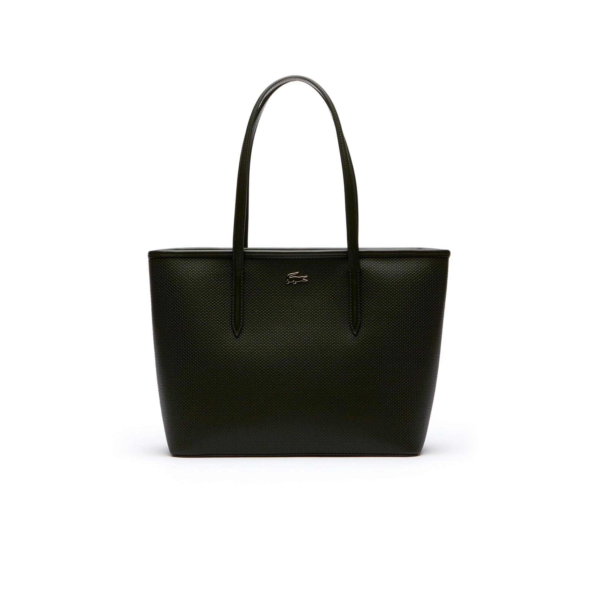 Damen-Tote-Bag CHANTACO aus Piqué-Leder mit Reißverschluss