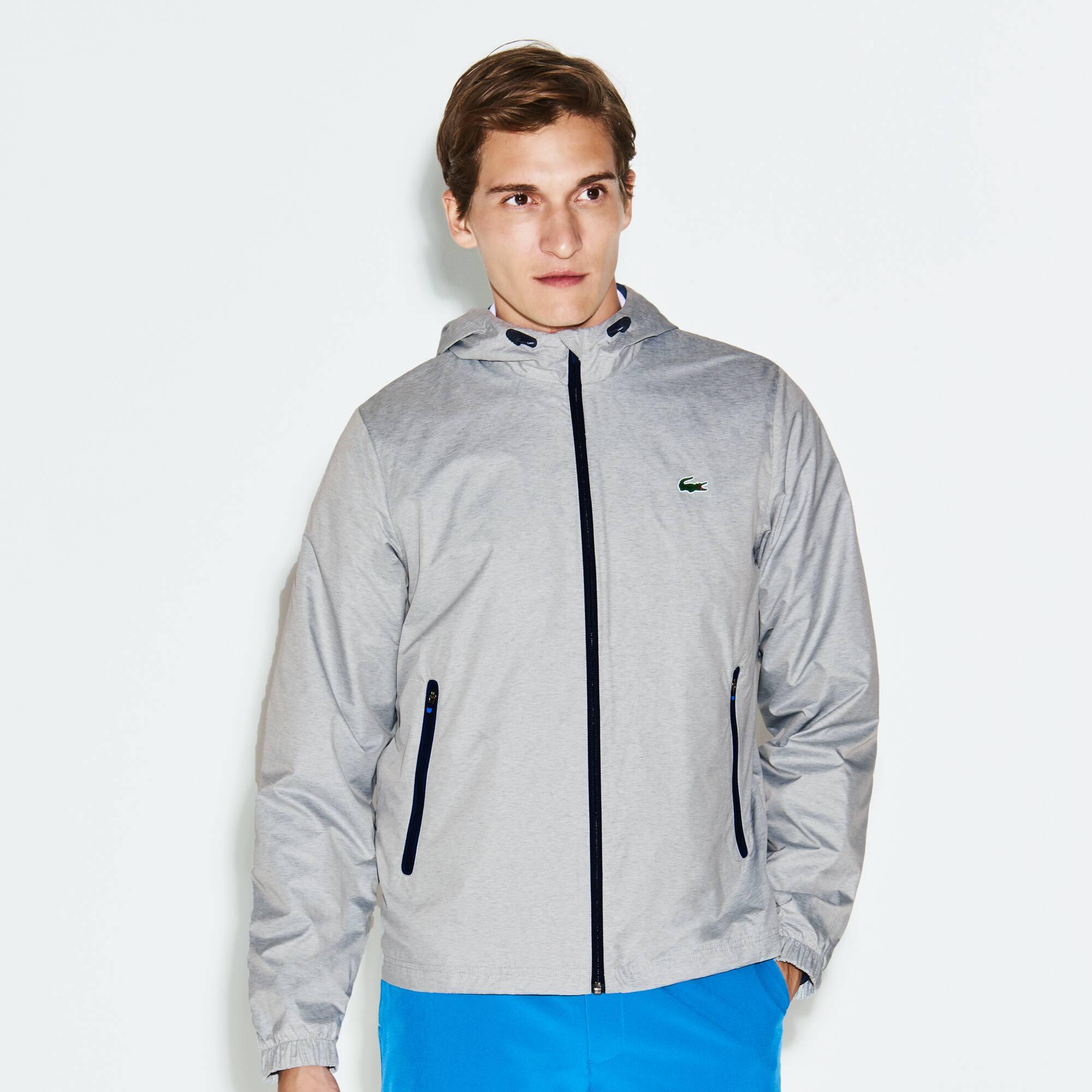 Herren LACOSTE SPORT metallische Golf-Jacke aus Funktionstaft