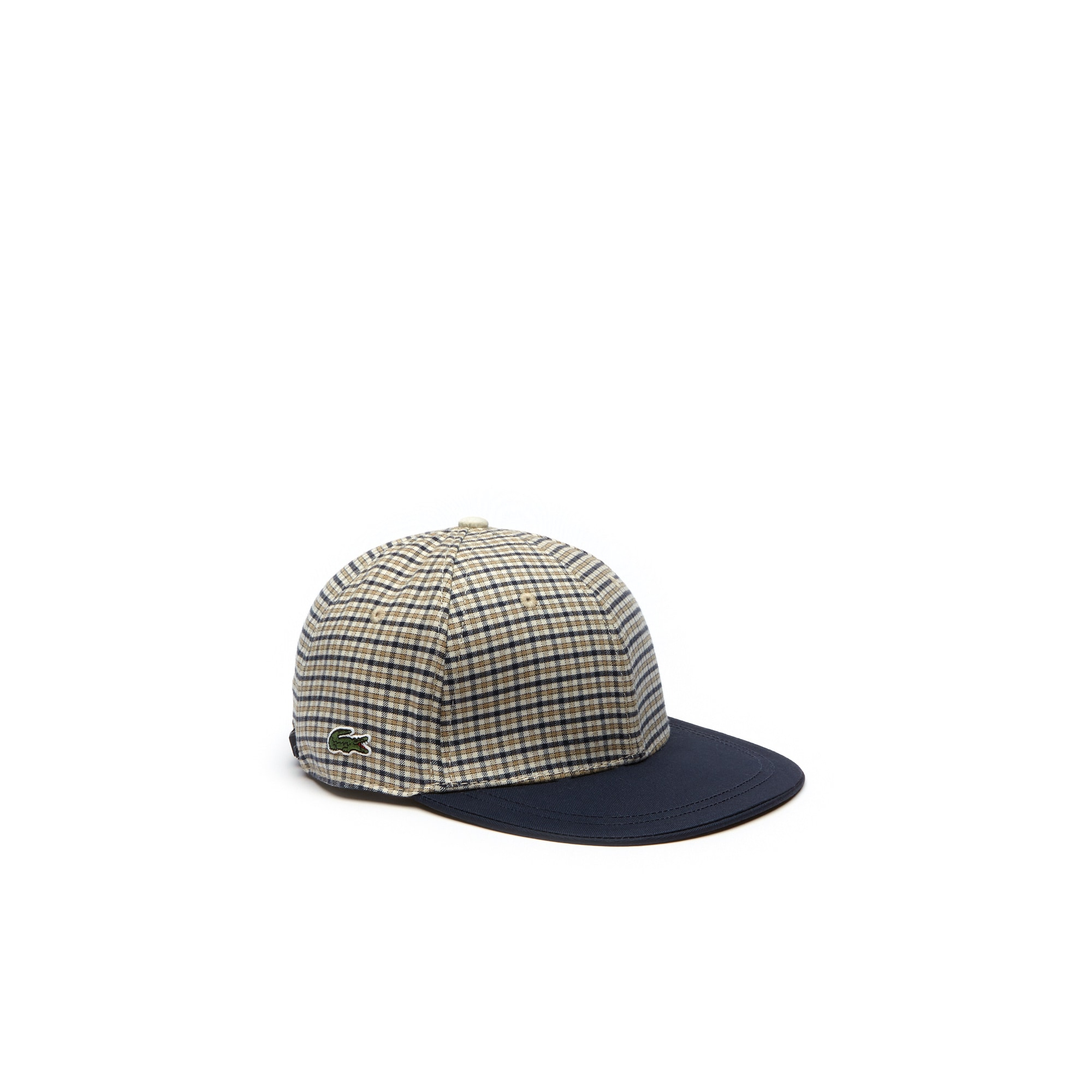 LACOSTE L!VE Kappe mit Kontrast-Schirm aus Karo-Flanell