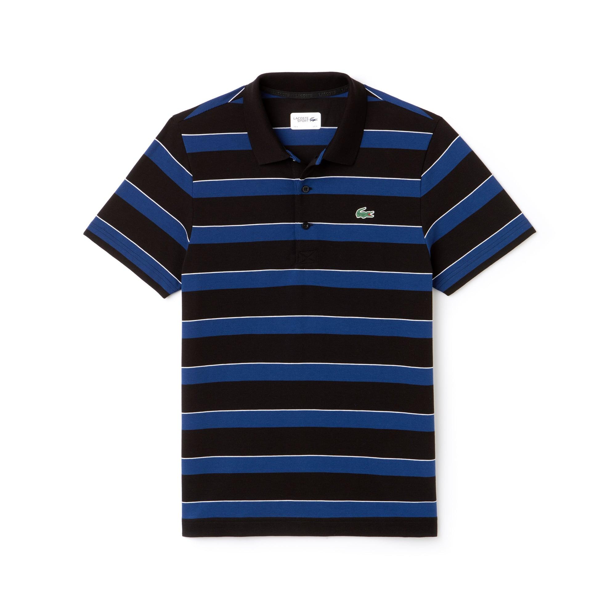 Herren LACOSTE SPORT gestreiftes Tennis-Poloshirt aus ultraleichter Baumwolle