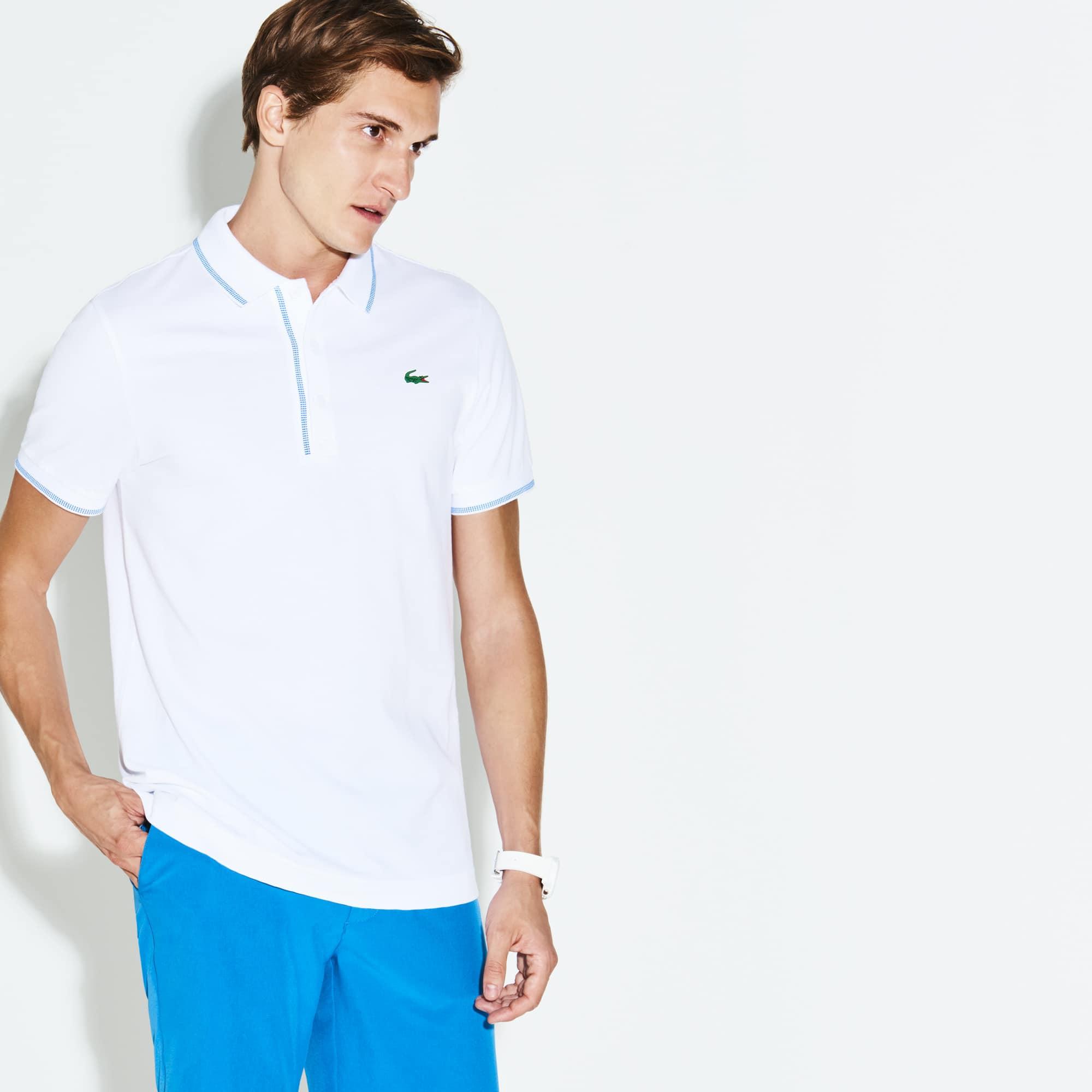 Herren LACOSTE SPORT Golf-Poloshirt mit Paspeln