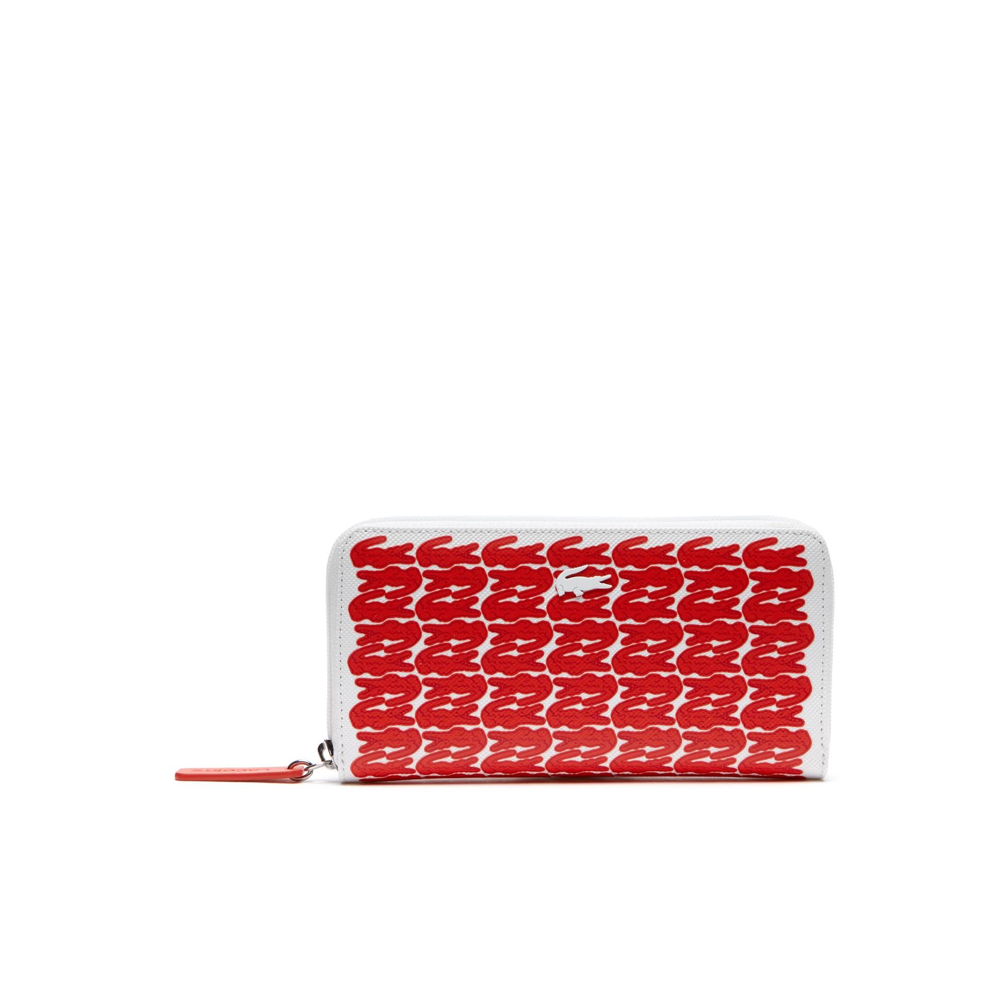 Damen L.12.12. CONCEPT Kroko Brieftasche mit Reißverschluss