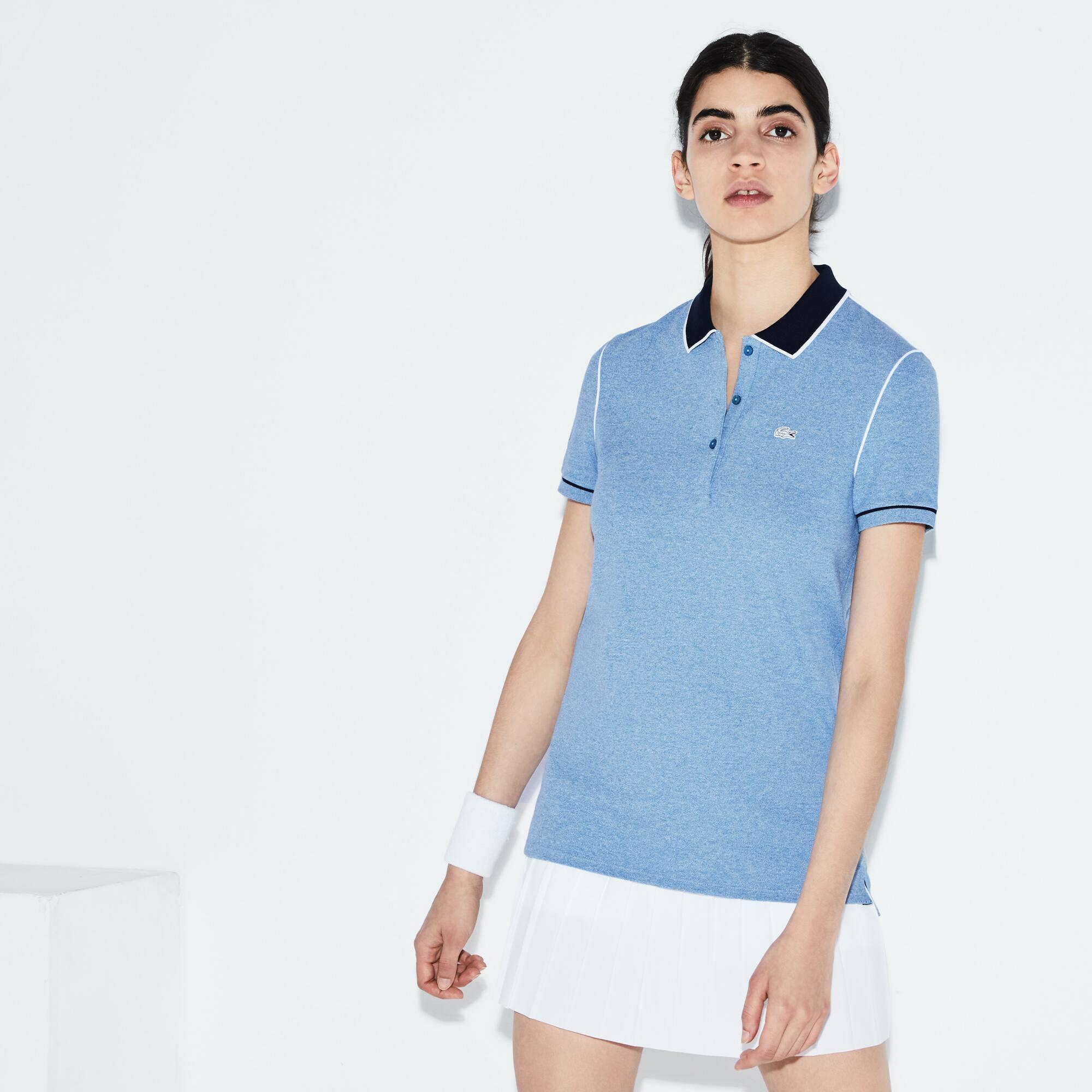 Damen LACOSTE SPORT Roland Garros Edition Stretch-Poloshirt