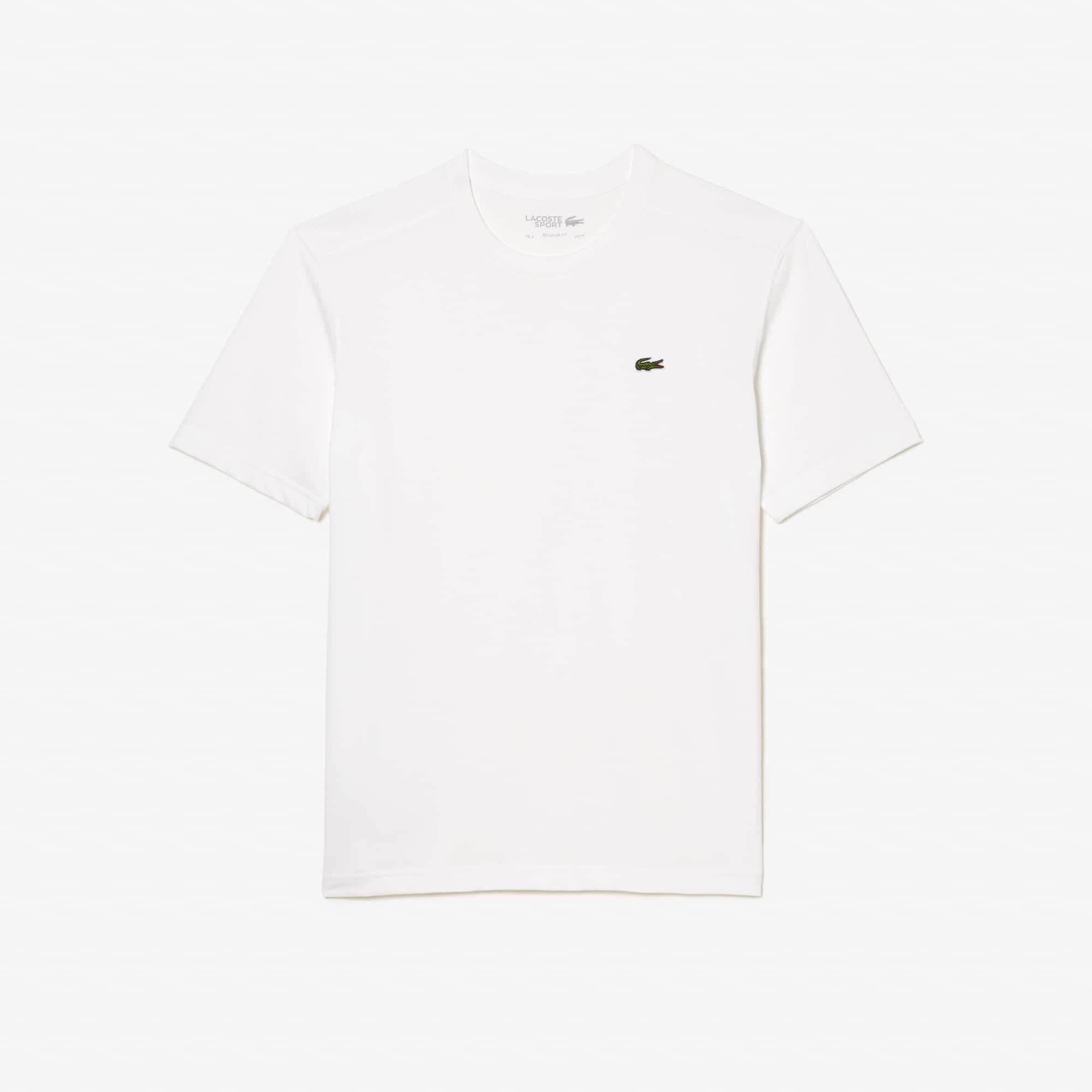 Lacoste Tennis T-Shirt mit Rundhalsausschnitt aus einfarbigem technischem Jersey