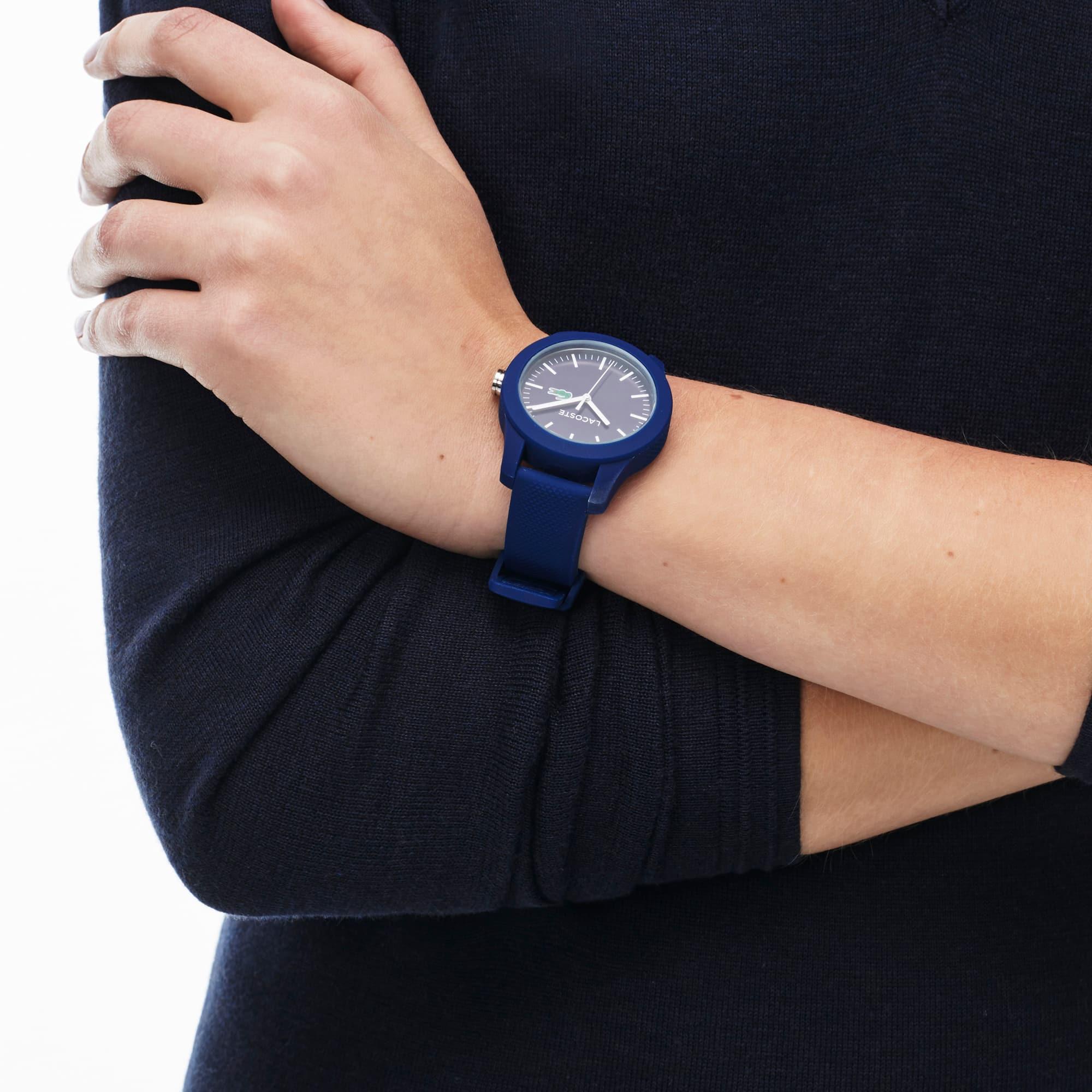LACOSTE 12.12 Damenuhr mit blauem Silikonband