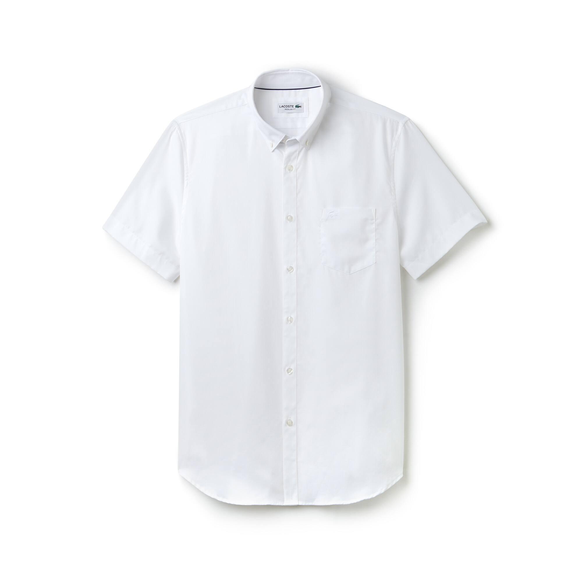 Regular Fit Herren-Hemd aus strukturierter Popeline