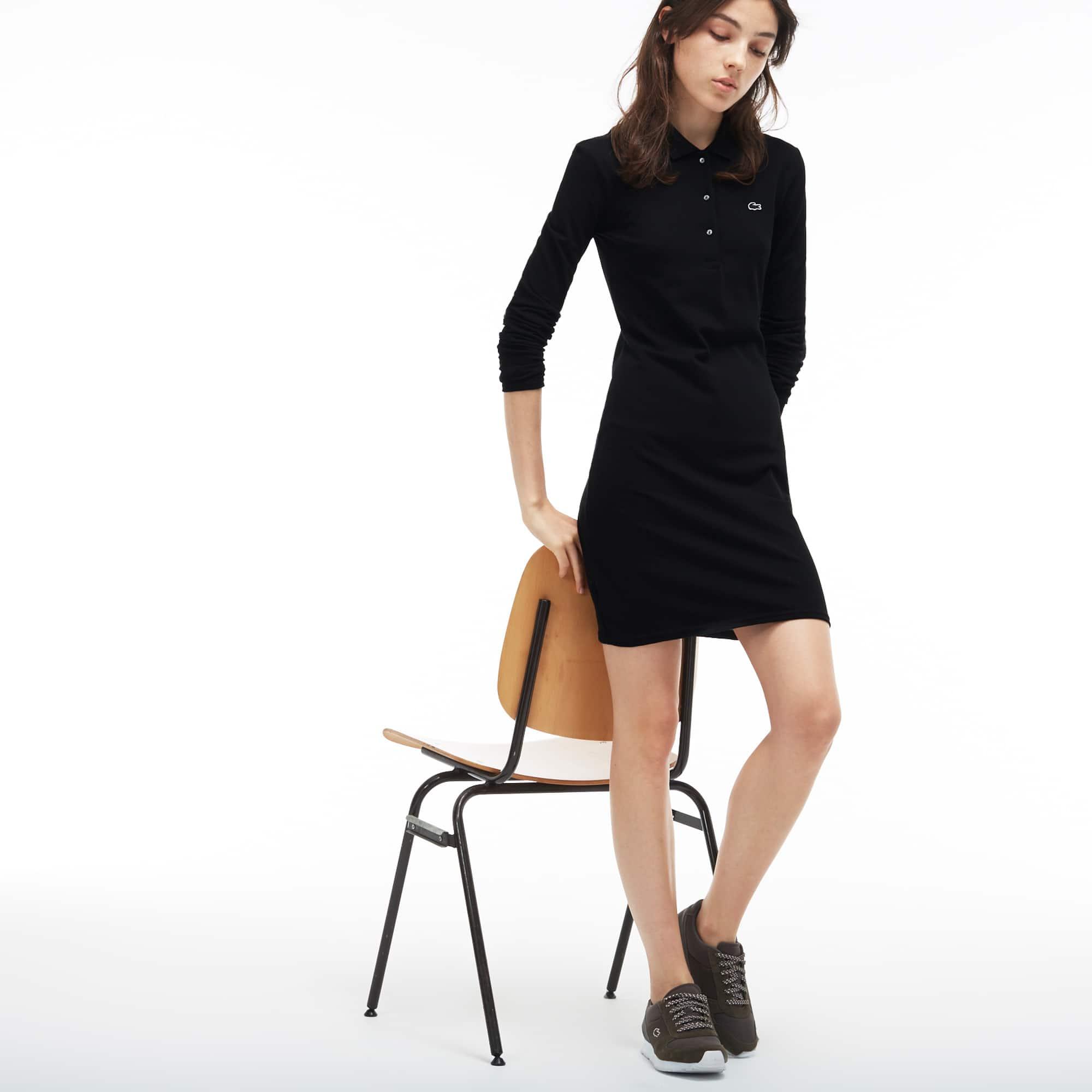 Slim Fit Damen-Polokleid aus Stretch-Piqué LACOSTE L!VE