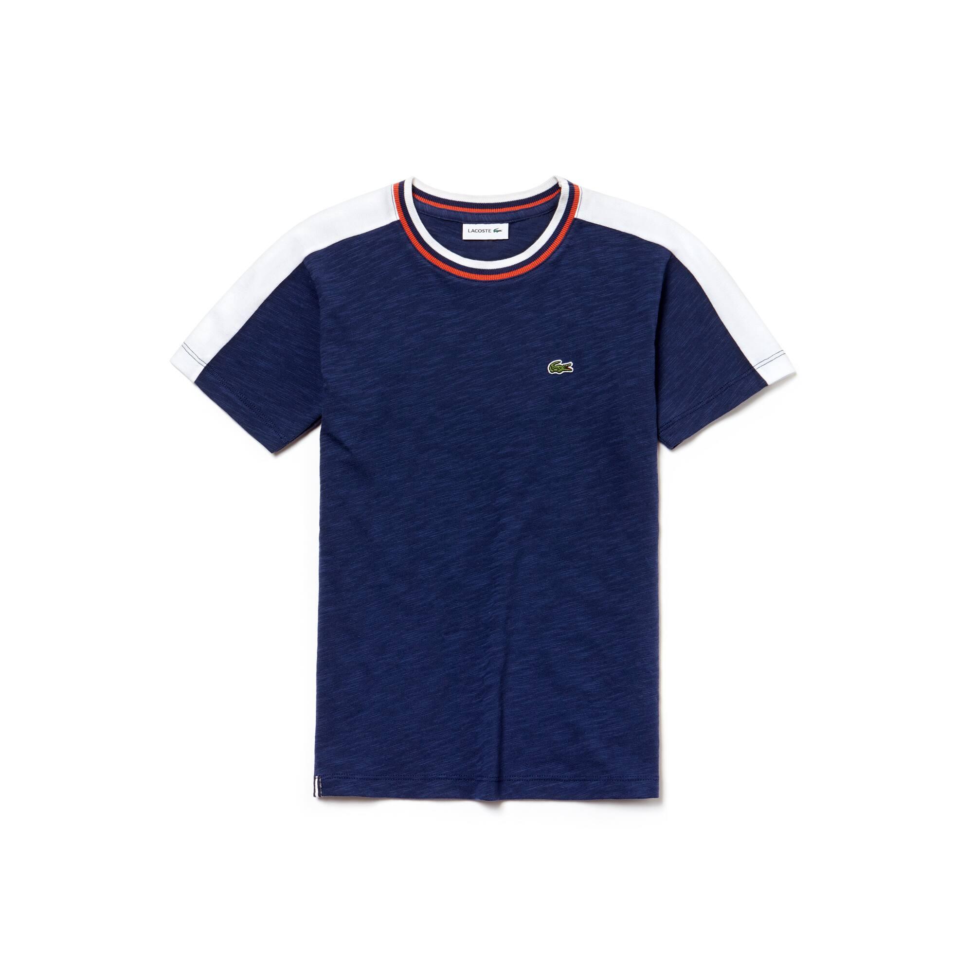 Jungen-T-Shirt aus weichem Jersey im Colorblock-Design