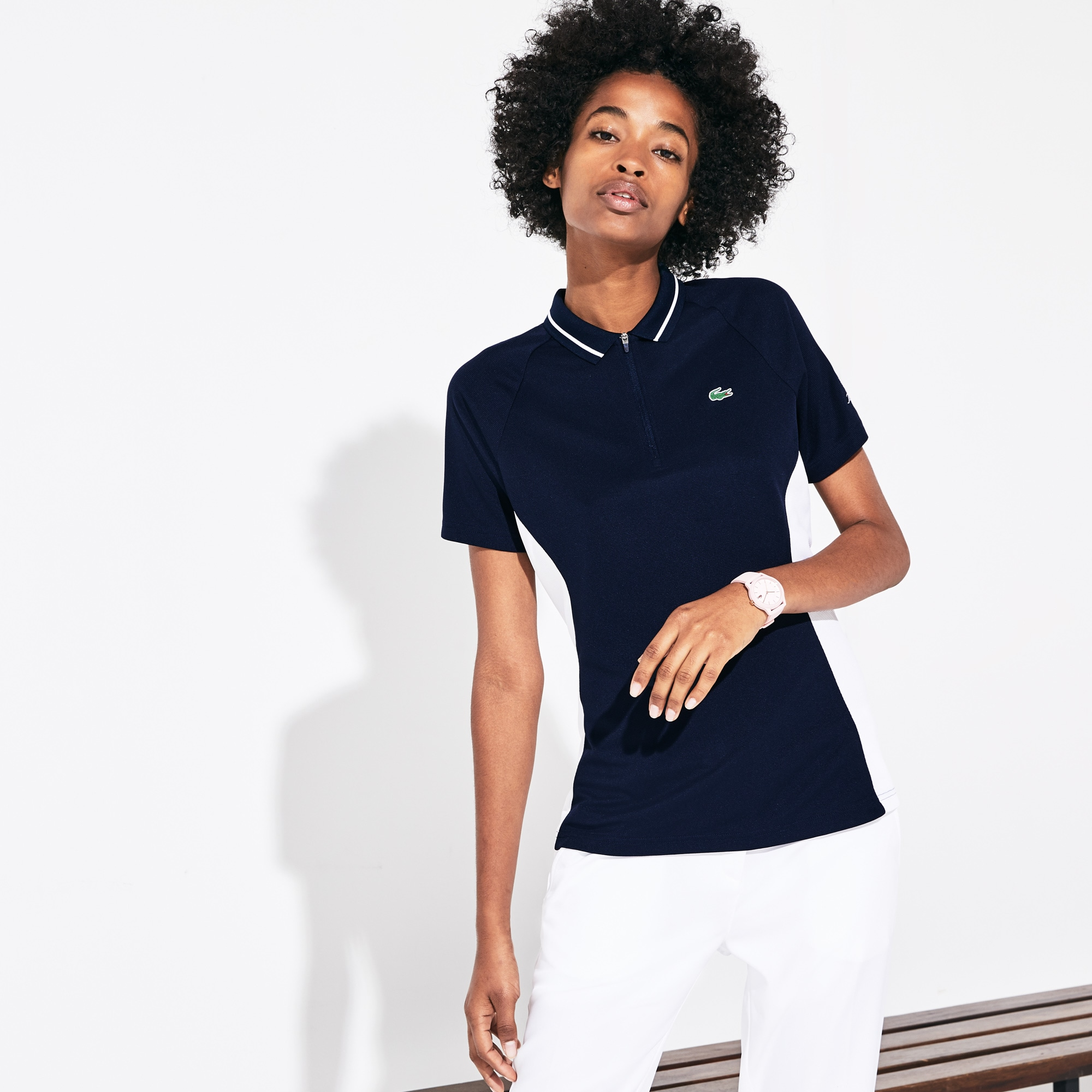Damen Presidents Cup Golf-Poloshirt mit Colourblocks
