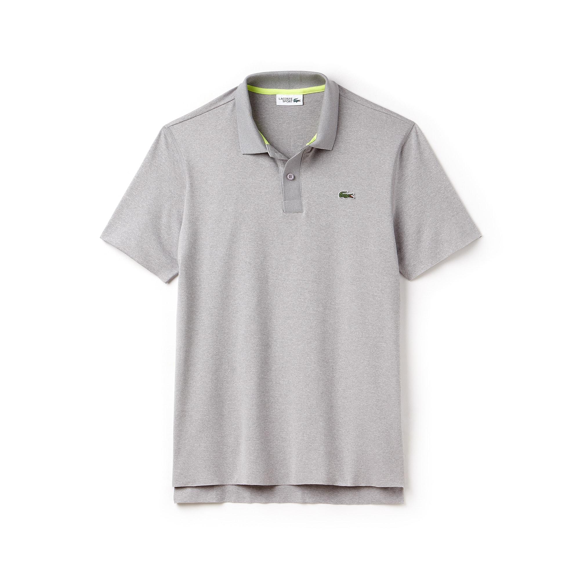 Herren LACOSTE SPORT meliertes Stretch-Tennis Poloshirt
