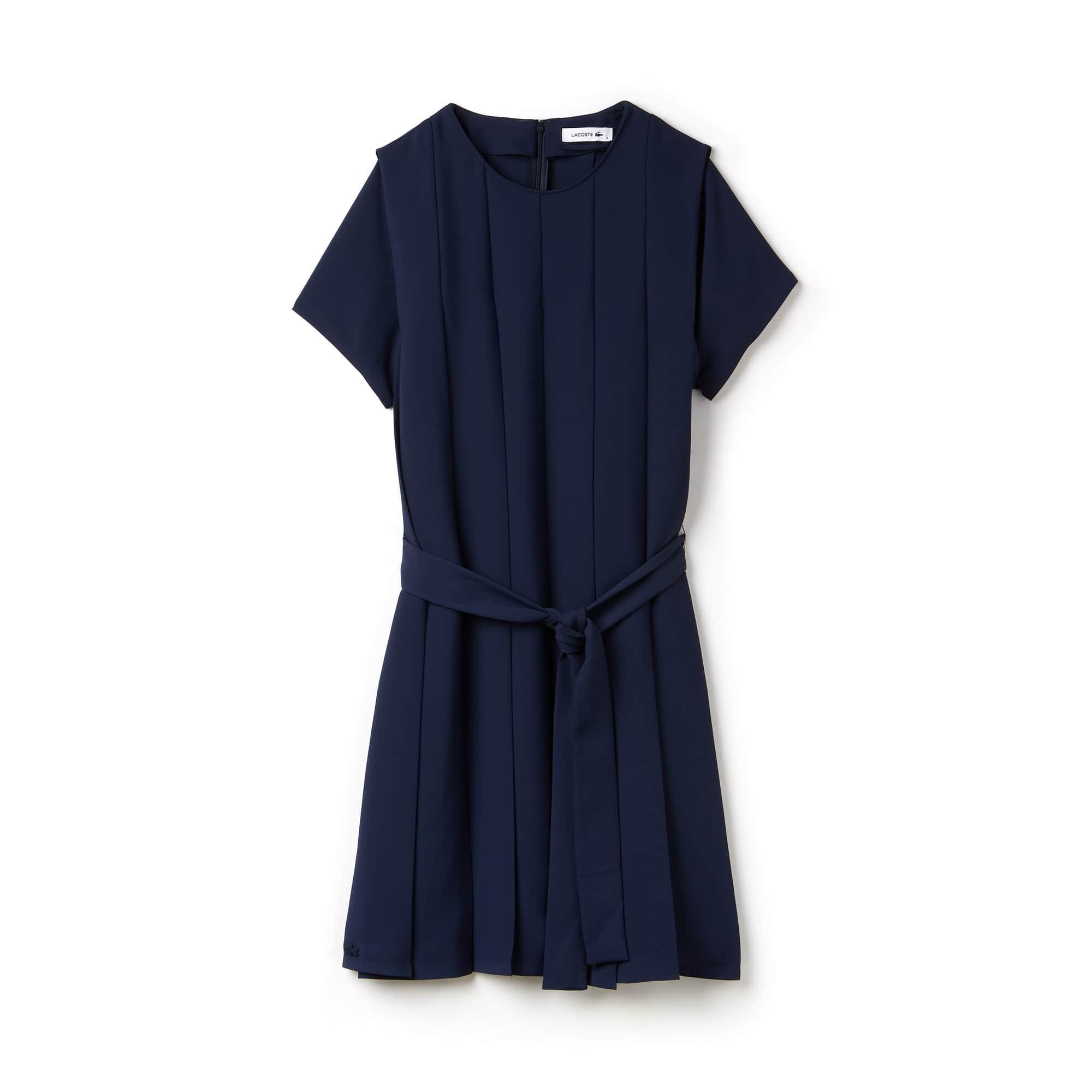 Damen-Kleid aus Krepp mit Faltenlegung