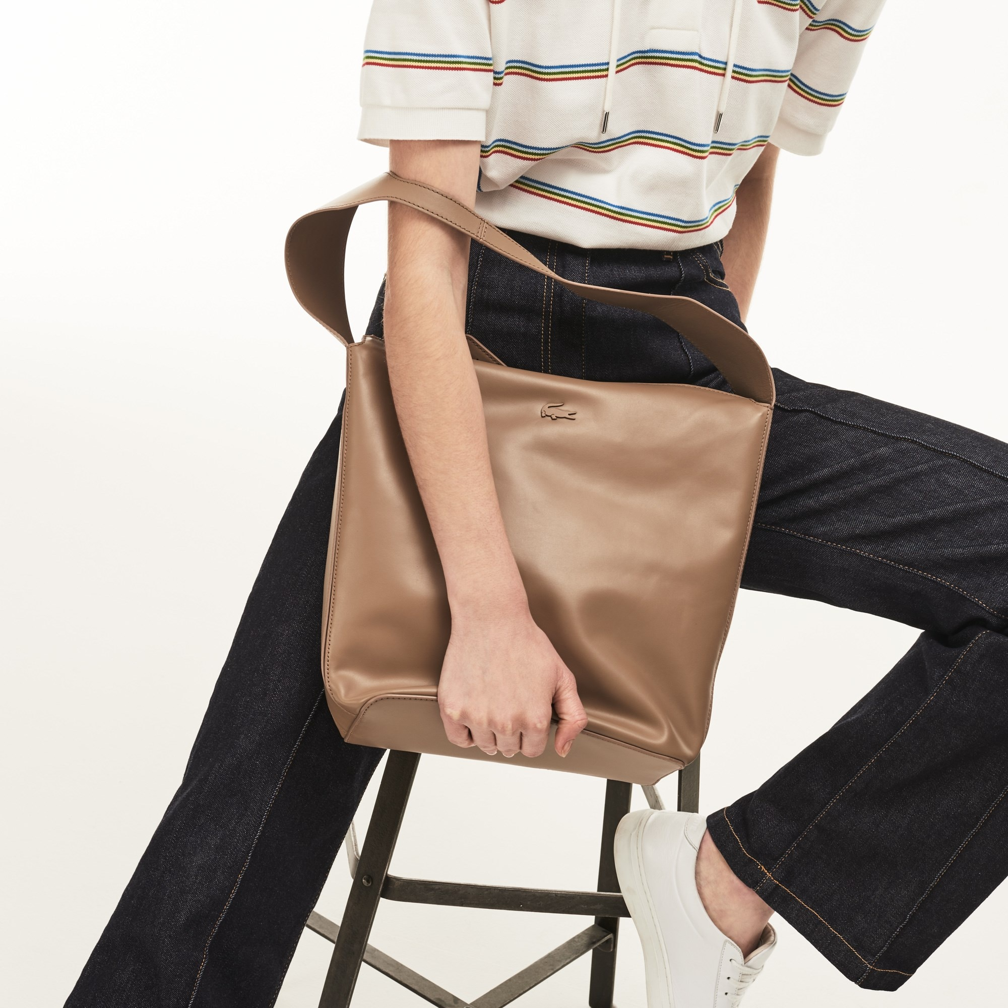 Einfarbige Damen-Leder Hobo Bag Purity Soft