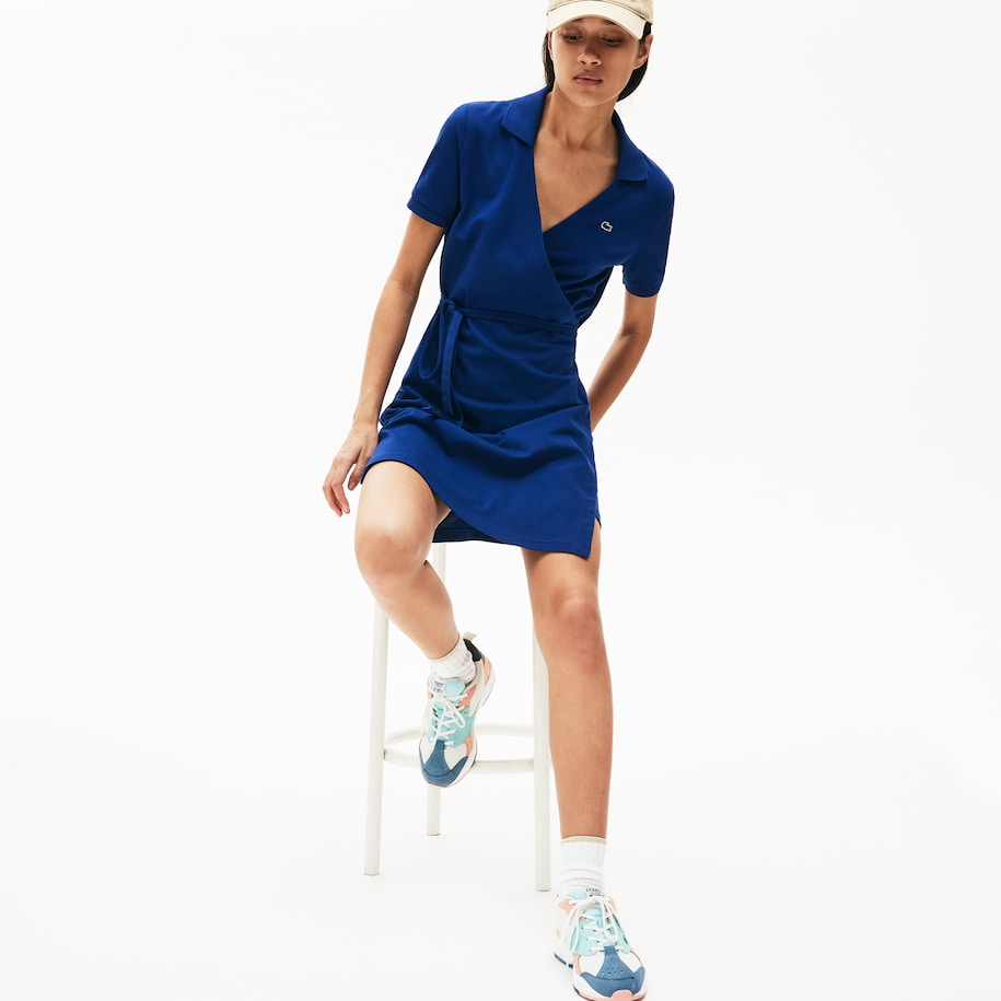 Damen-Polokleid aus Stretch-Piqué LACOSTE L!VE