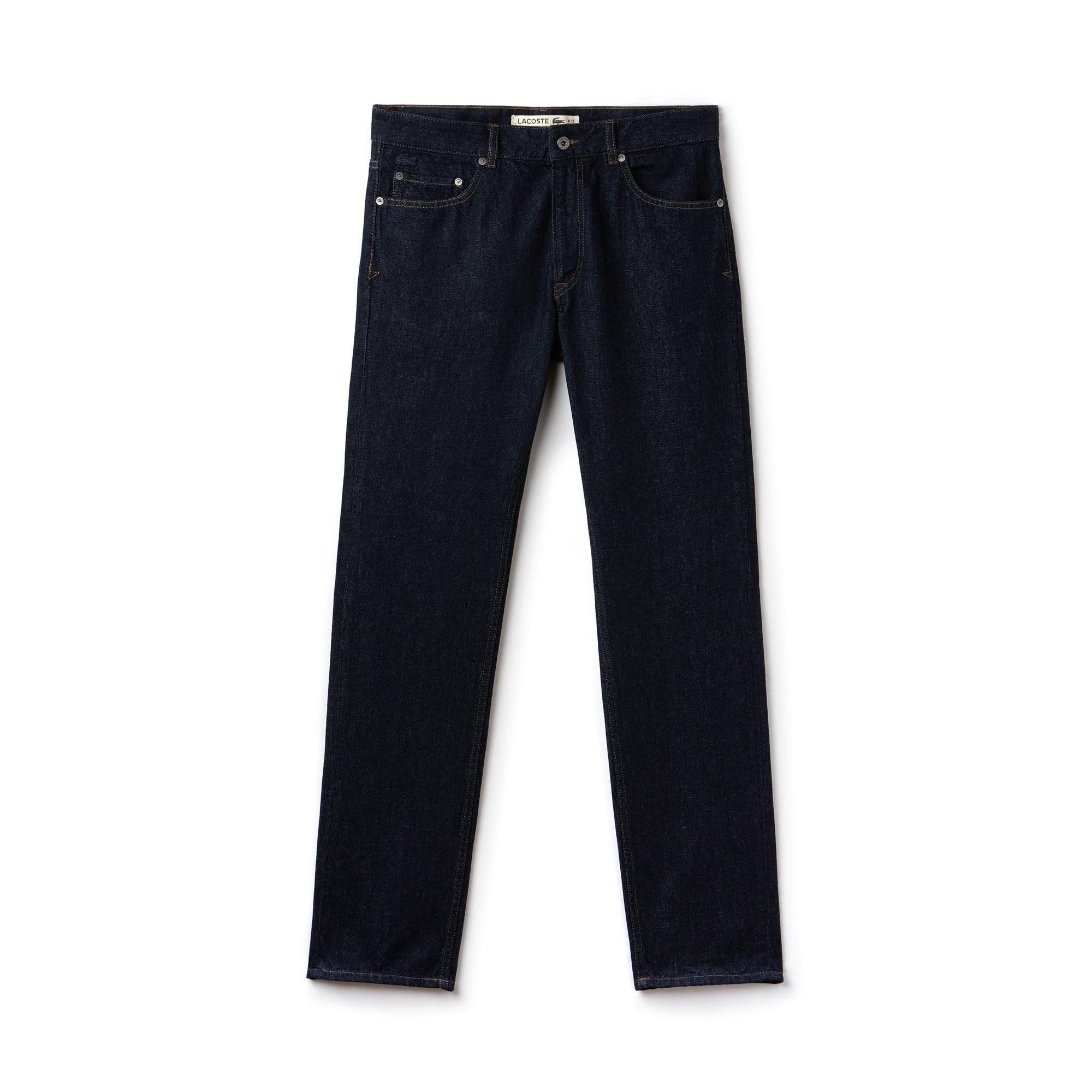 Regular Fit Herren-Jeans aus Baumwoll-Denim mit 5 Taschen