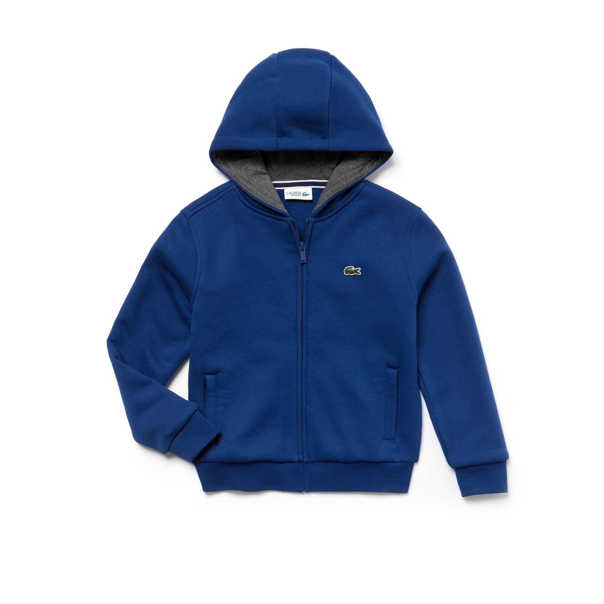 Kinder-Sweatjacke aus Baumwoll-Fleece LACOSTESPORT TENNIS