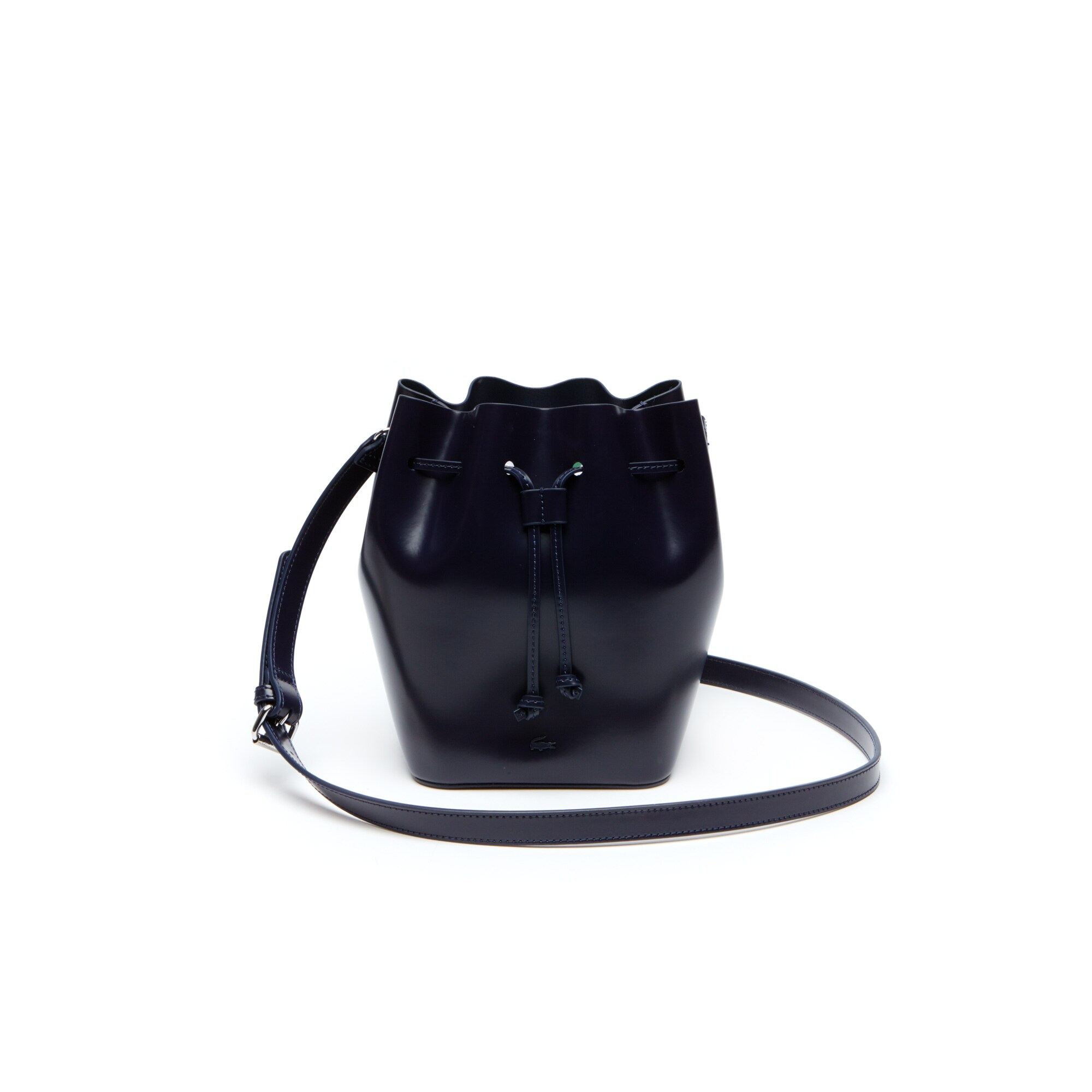 Damen-Beuteltasche MINI GOLF aus glänzendem Leder