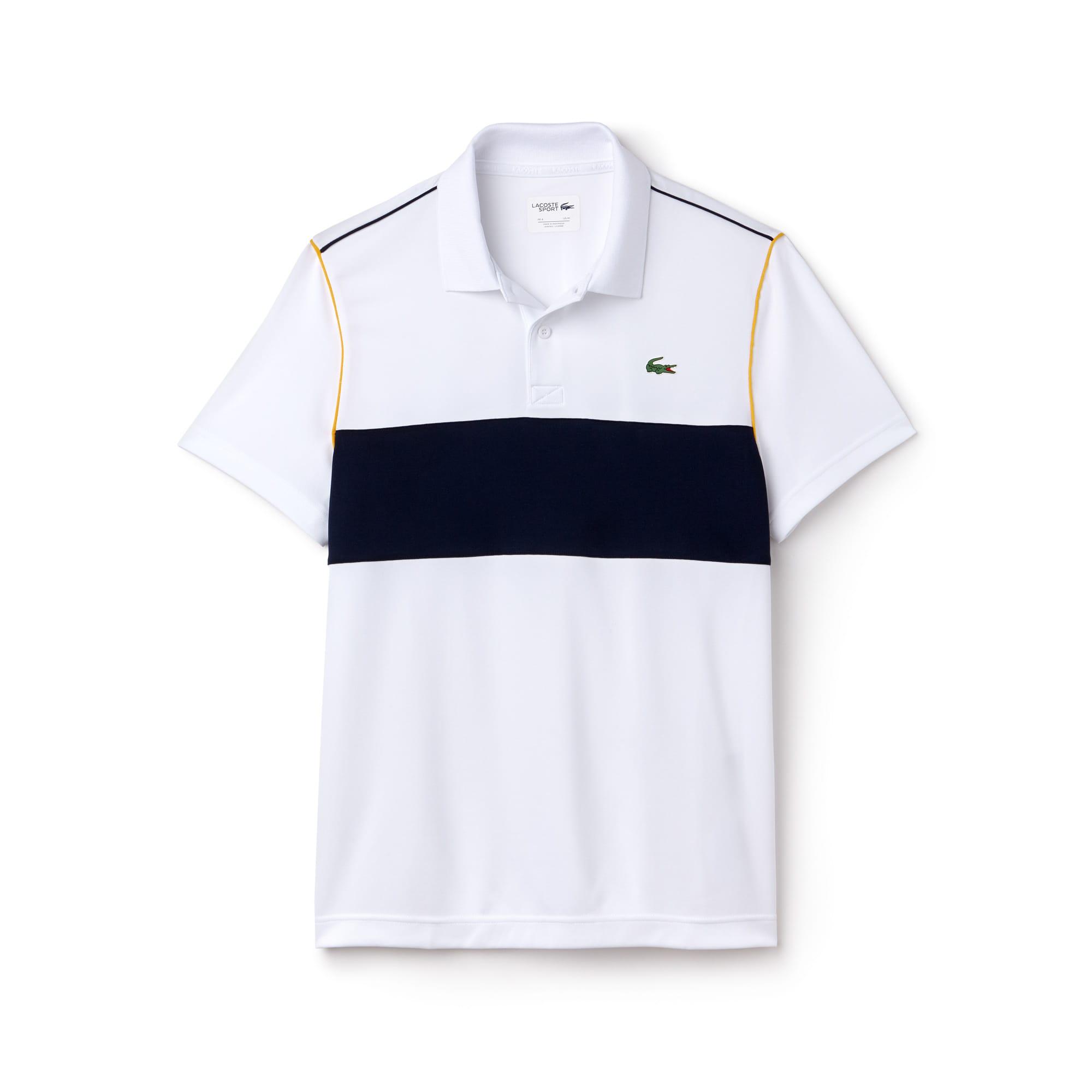 Herren LACOSTE SPORT Poloshirt aus Funktionspiqué mit Colorblocks