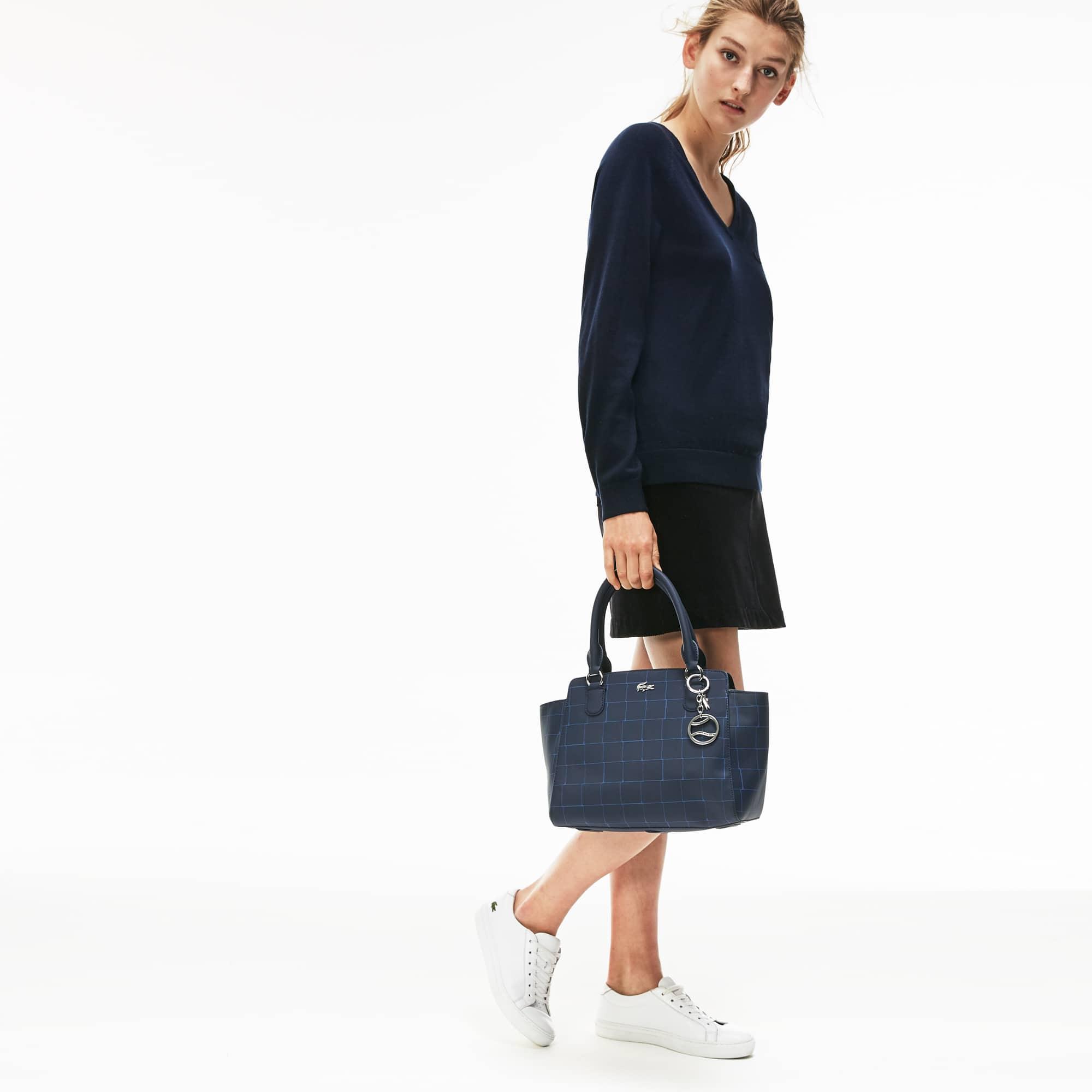 Damen DAILY CLASSIC Tote Bag mit Netzprint