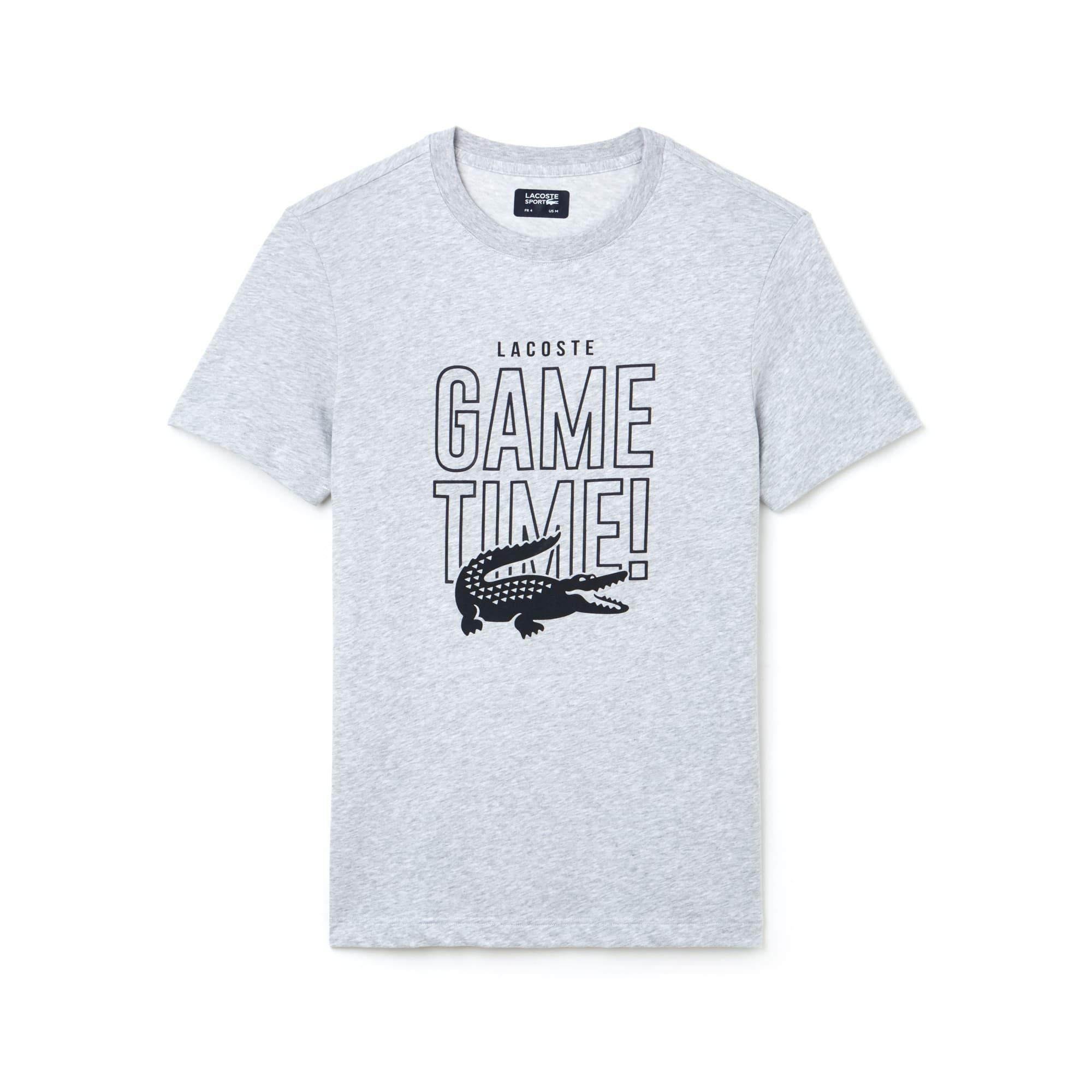 Herren LACOSTE SPORT Game Time Rundhals Tennis T-Shirt aus Jersey
