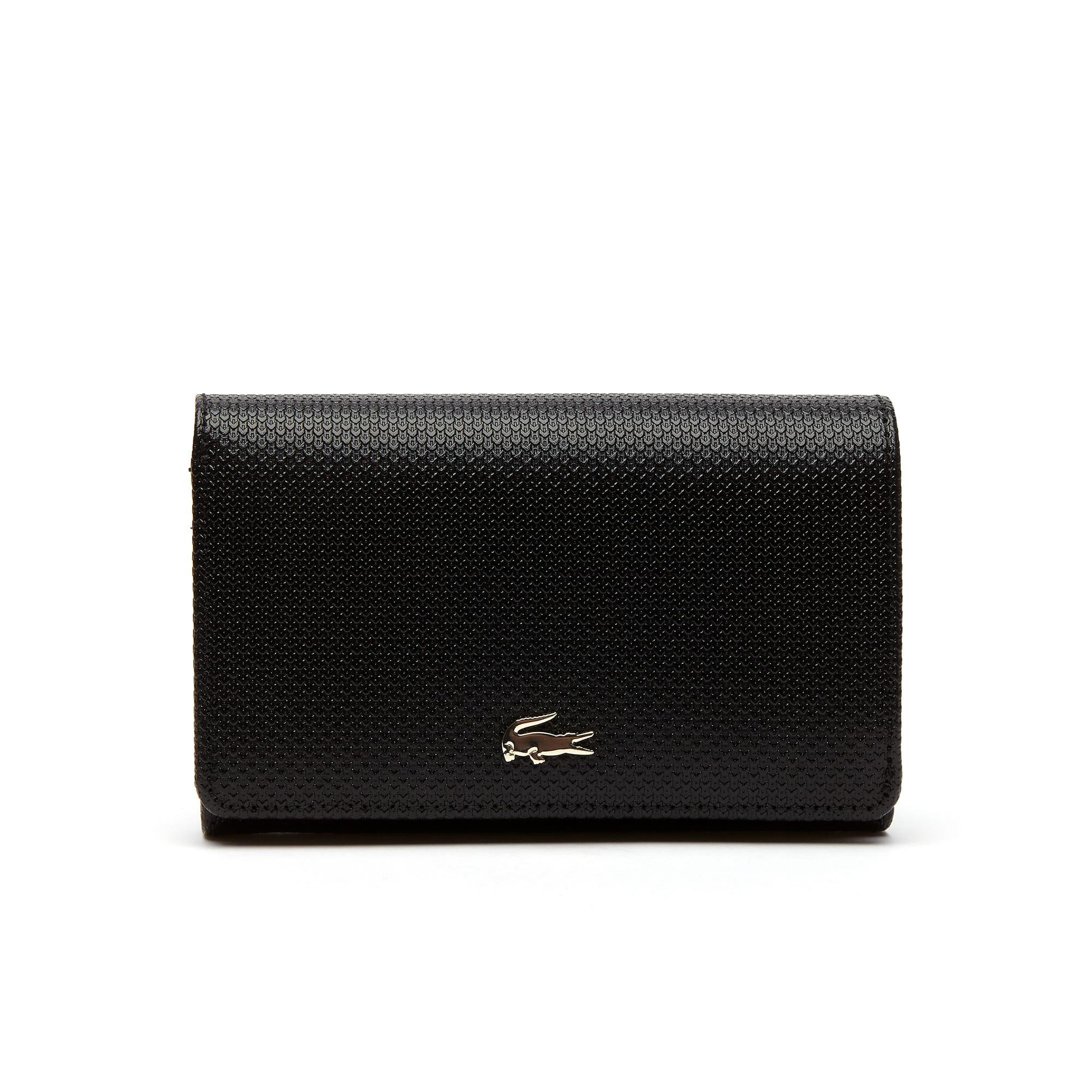 Damen-Brieftasche CHANTACO aus zweifarbigem Piqué-Leder