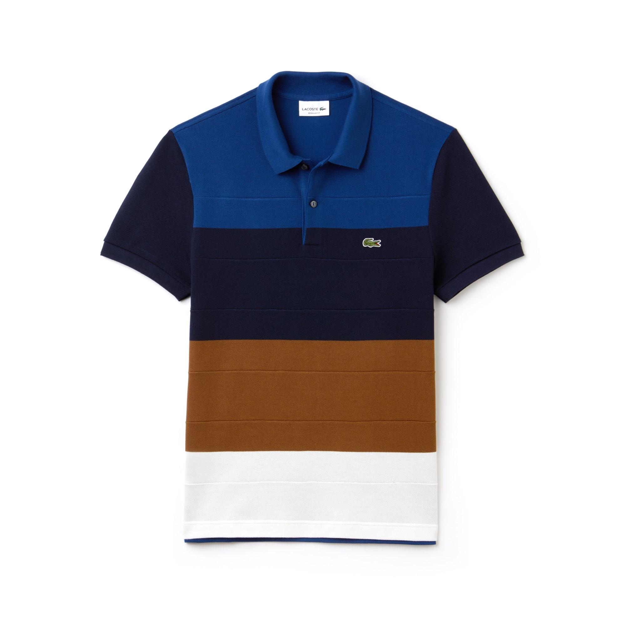 Regular Fit Herren-Poloshirt aus Baumwoll-Piqué mit Colorblock LACOSTE