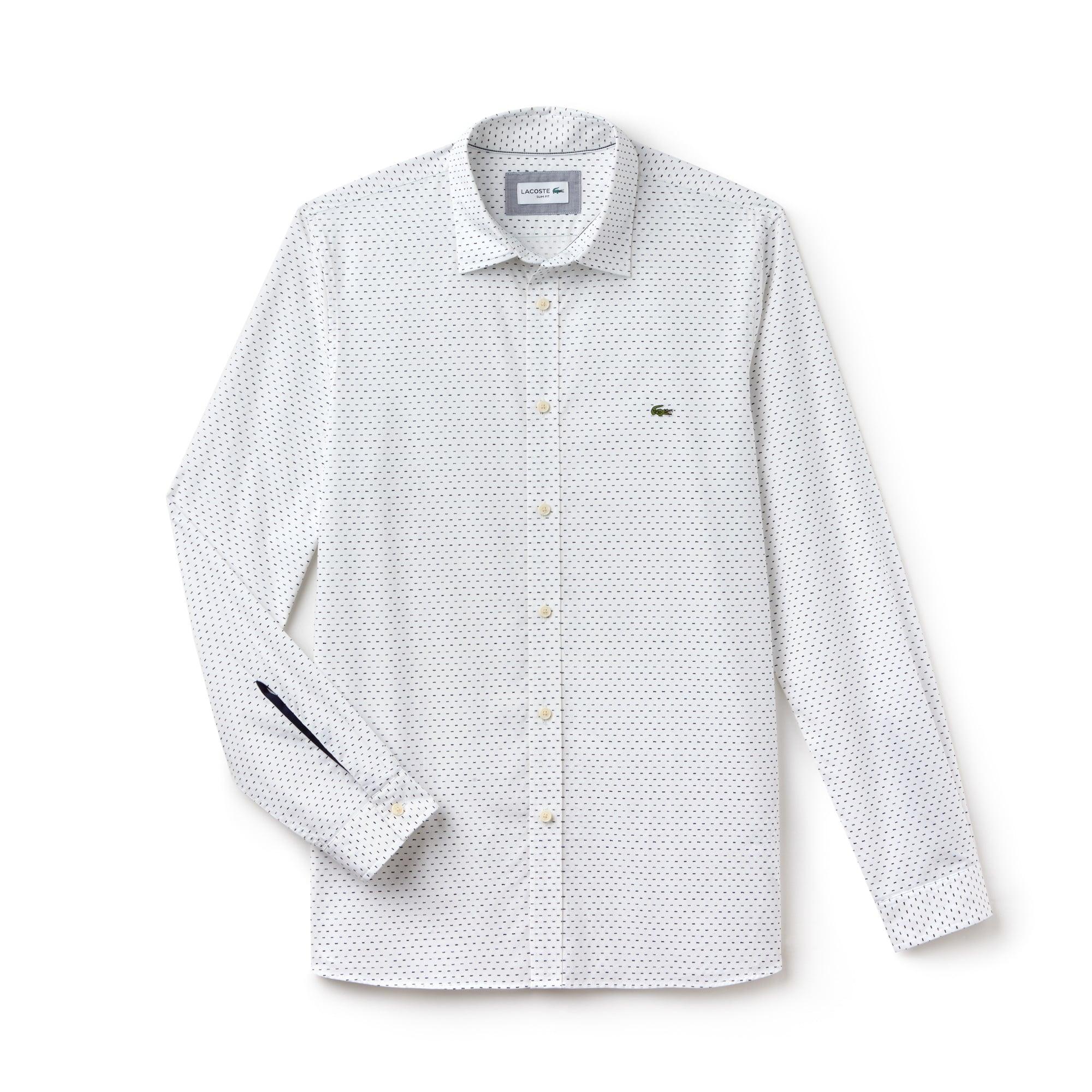 Herren Slim Fit Hemd aus bedruckter Popeline LACOSTE MOTION