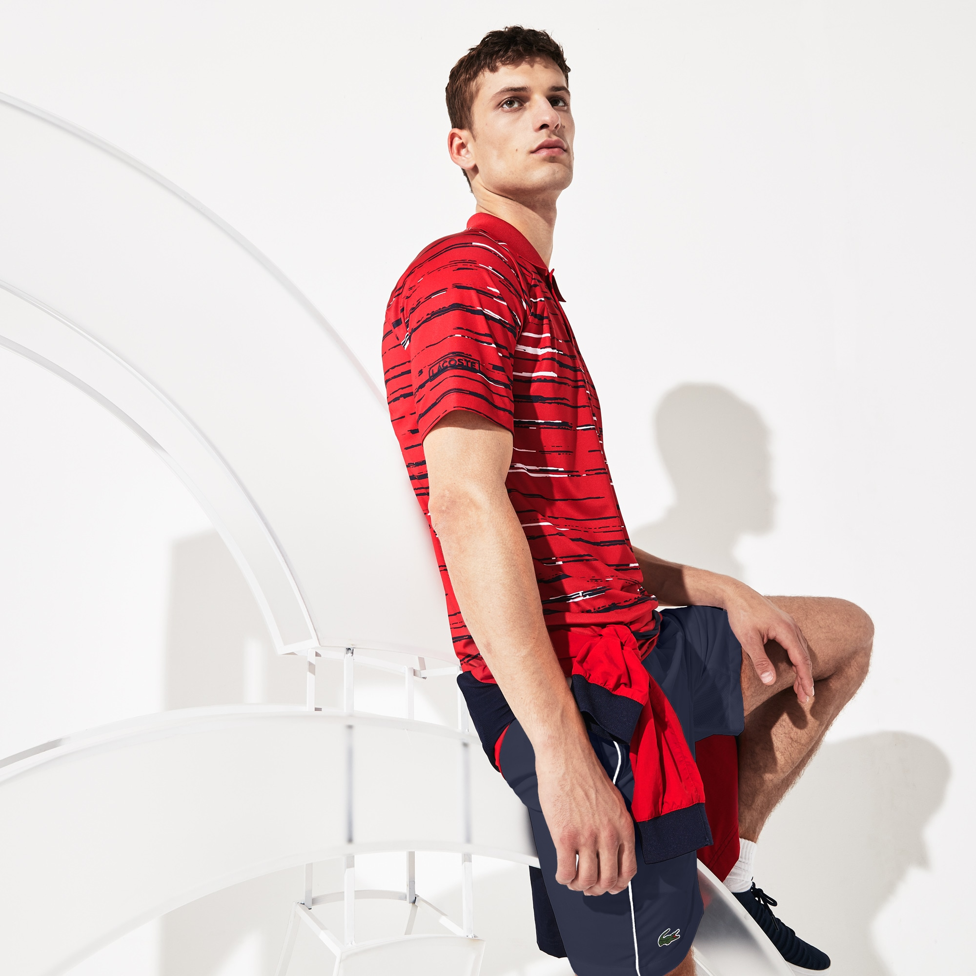 Herren LACOSTE SPORT x Novak Djokovic Jersey-Poloshirt