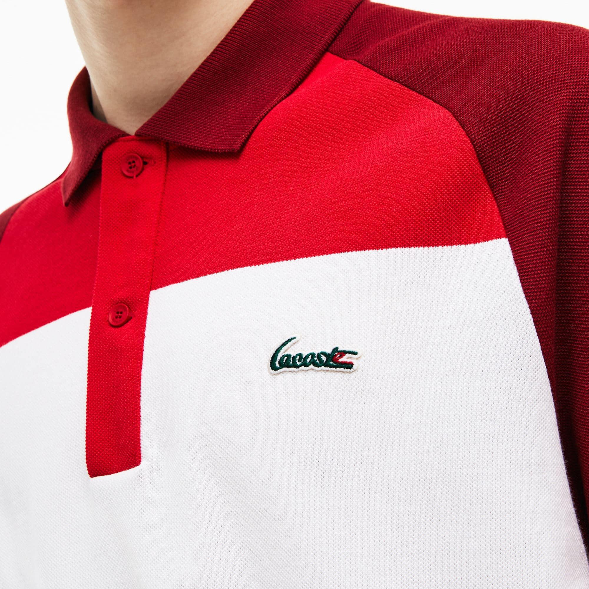 Herren LACOSTE L.12.12 Poloshirt aus Petit Piqué mit Colorblocks