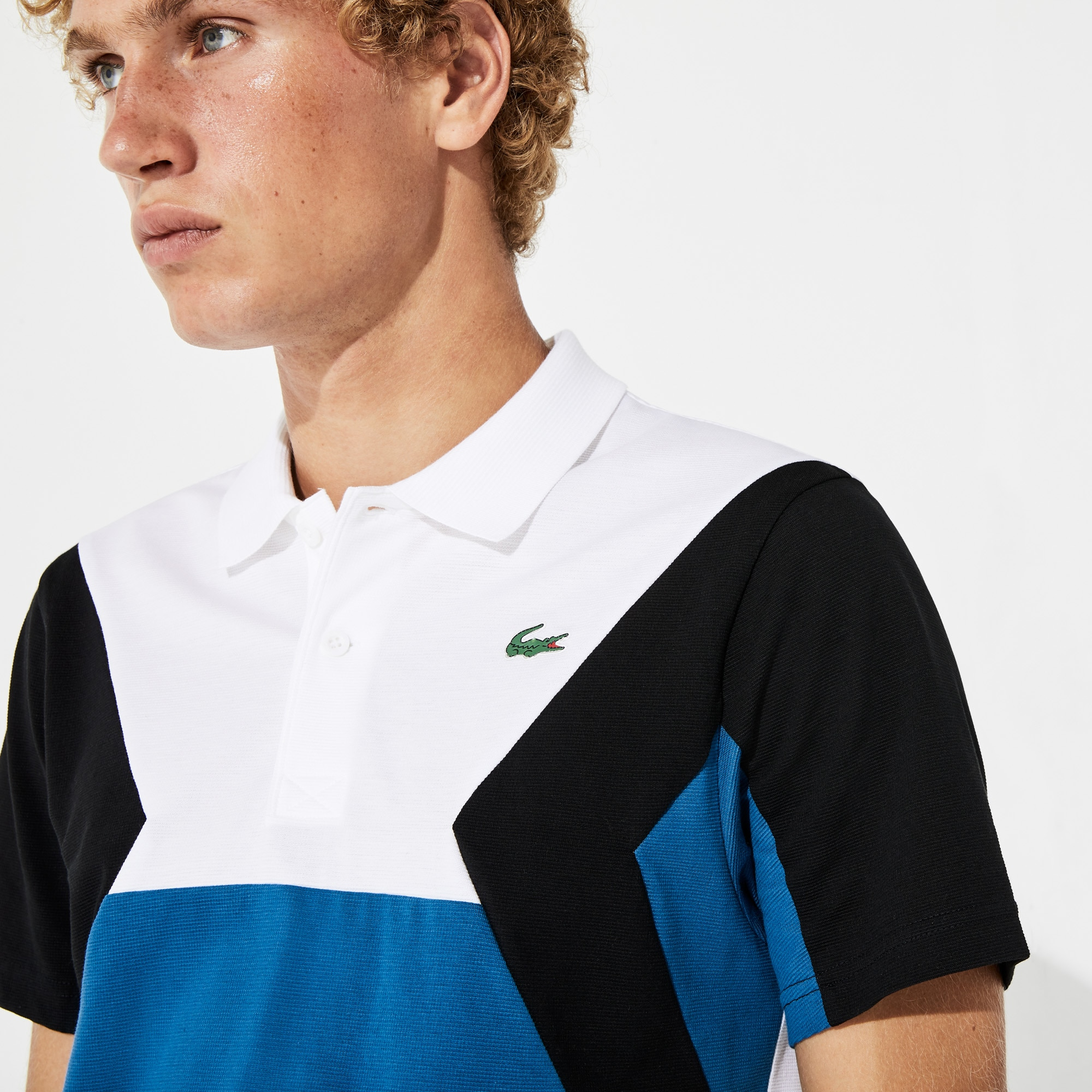 Herren LACOSTE SPORT Ultra-Light-Poloshirt mit Colourblocks