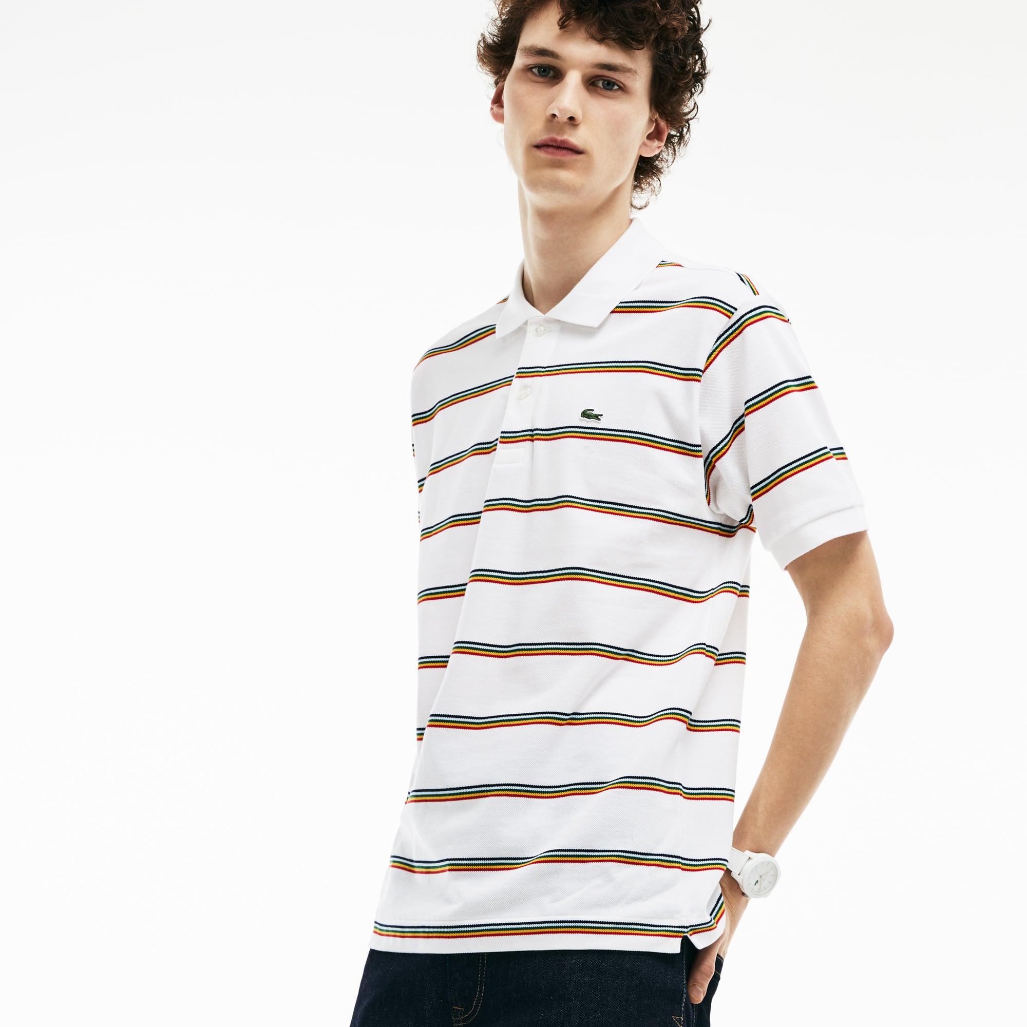 Herren LACOSTE L.12.12 gestreiftes Poloshirt aus Baumwoll-Piqué
