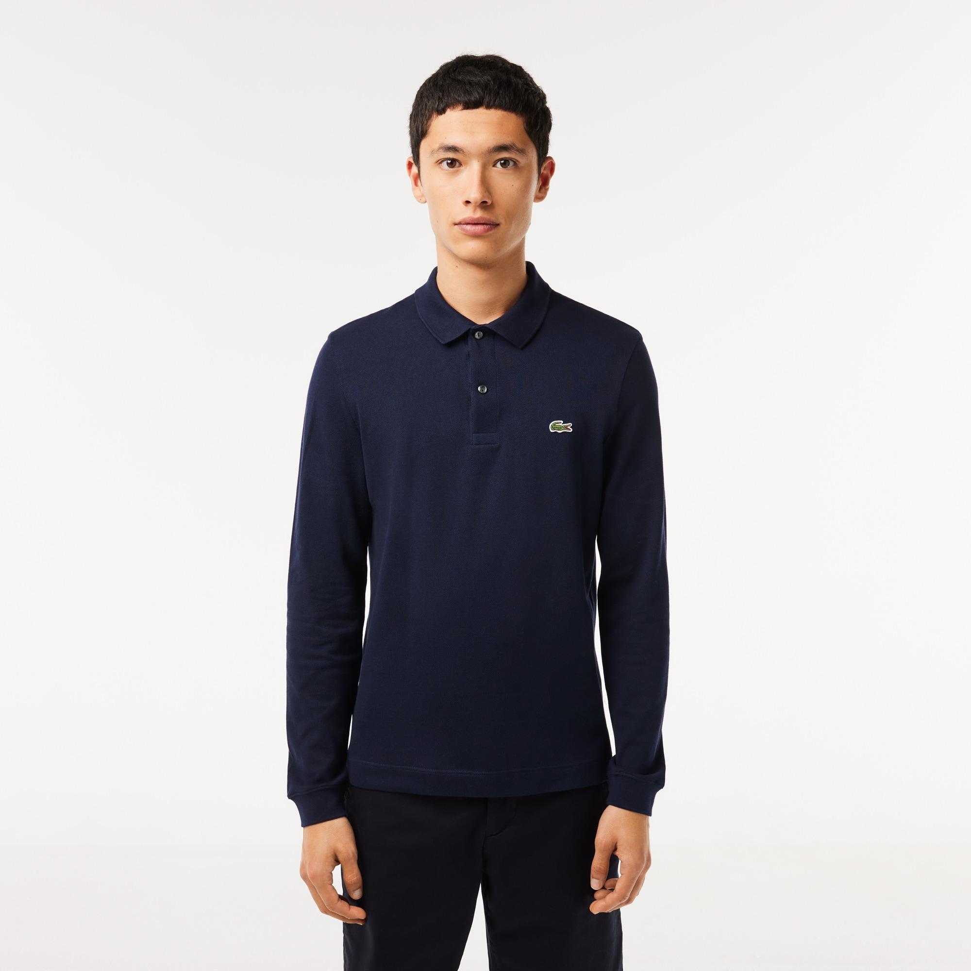LACOSTE Slim Fit Herren-Poloshirt aus Petit Piqué