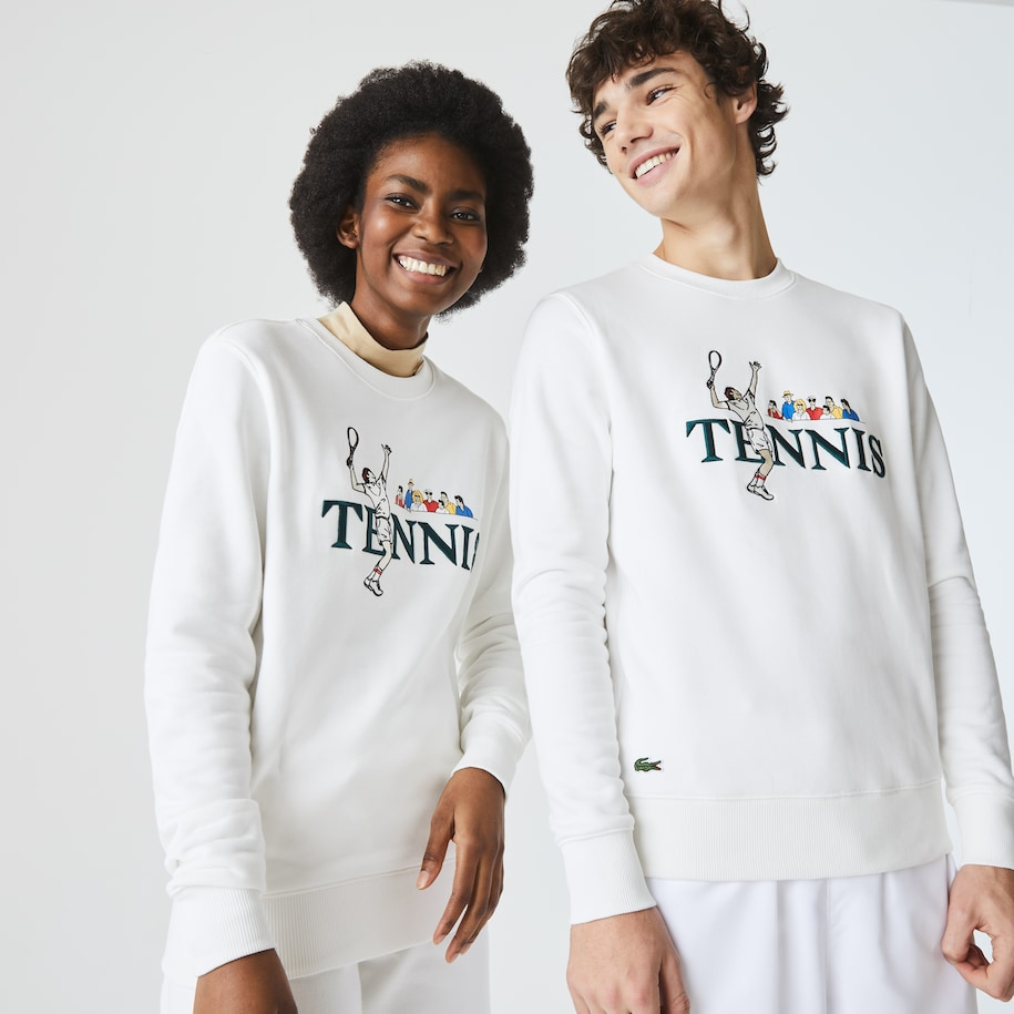 Sweatshirt im Tennis-Design LACOSTE L!VE