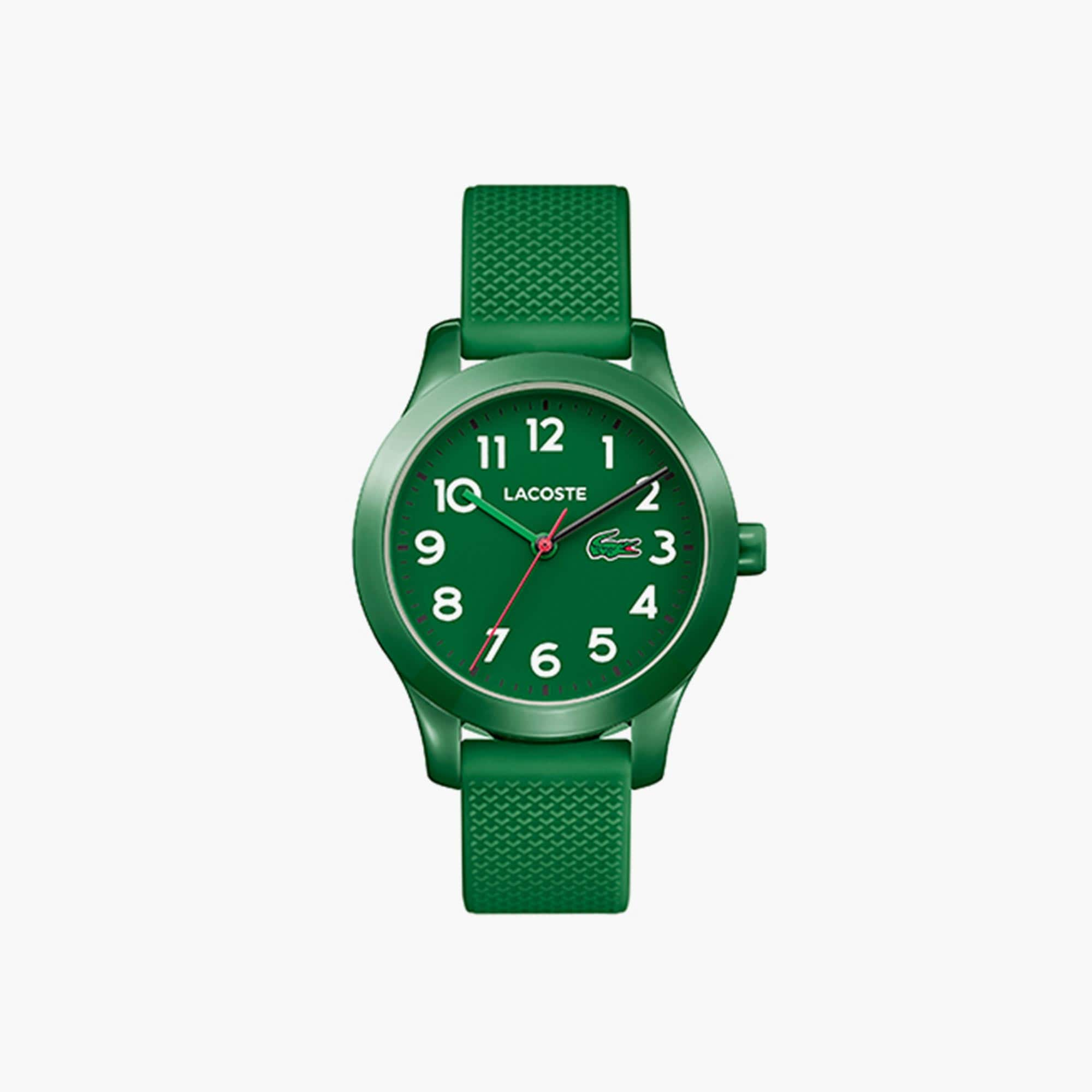 LACOSTE 12.12 Kinderuhr mit grünem Silikonband