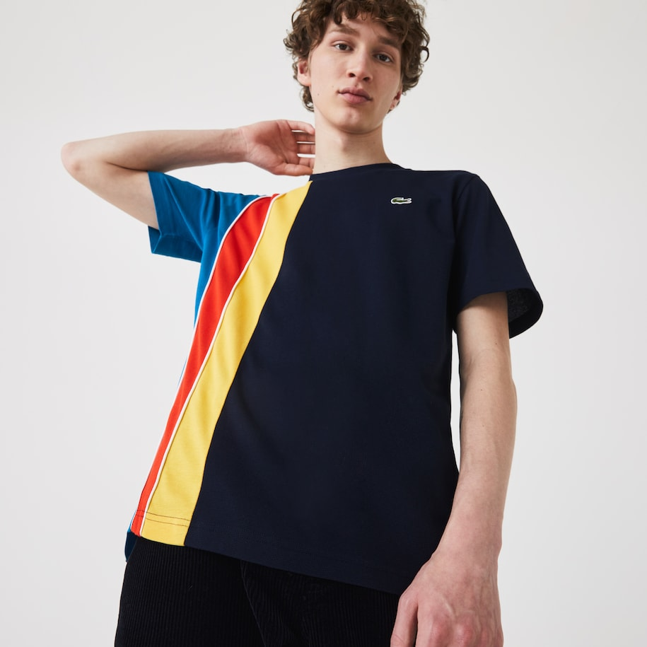 Herren LACOSTE SPORT T-Shirt mit Colourblocks