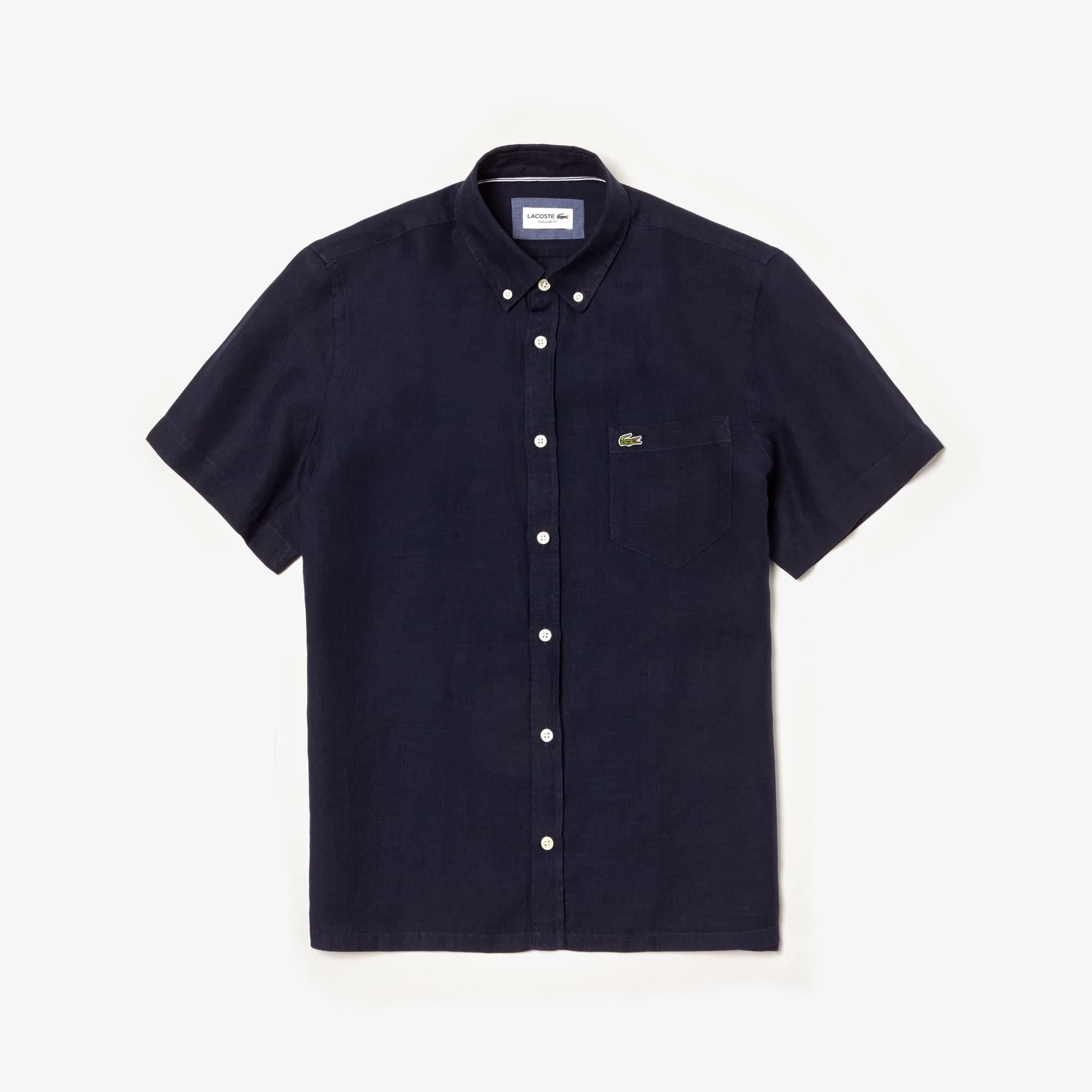 Regular Fit Herren-Hemd aus Leinen