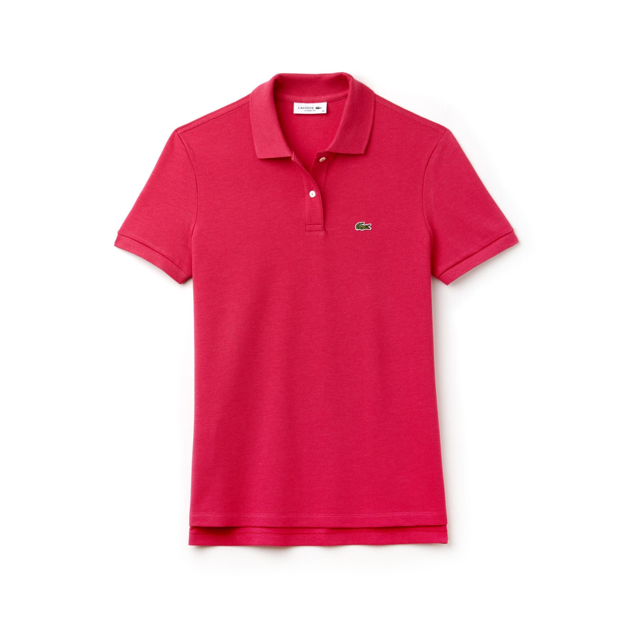 ... LACOSTE Classic Fit Damen-Poloshirt aus weichem Petit Piqué 0155369191