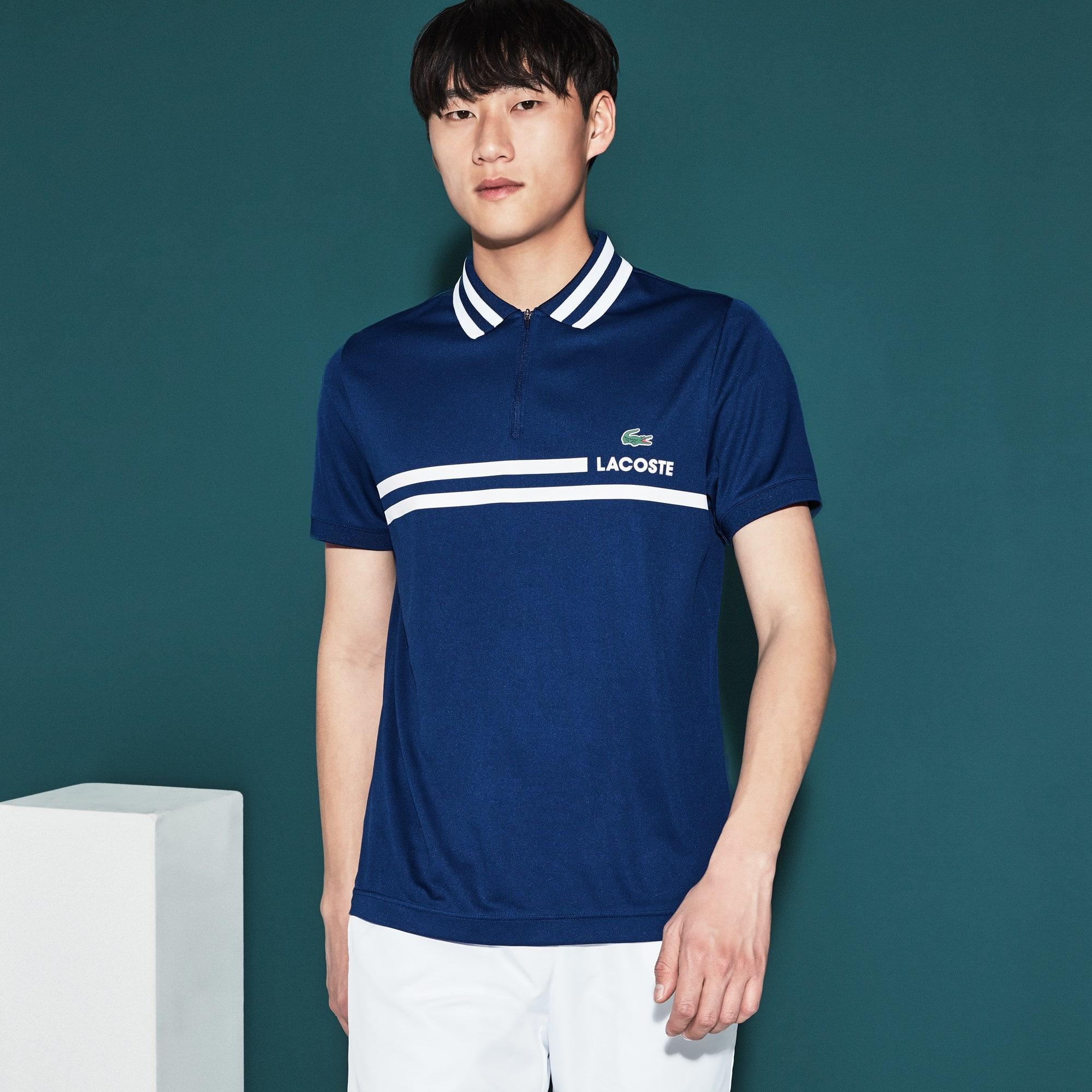 Herren LACOSTE SPORT Tennis-Poloshirt mit Kontraststreifen