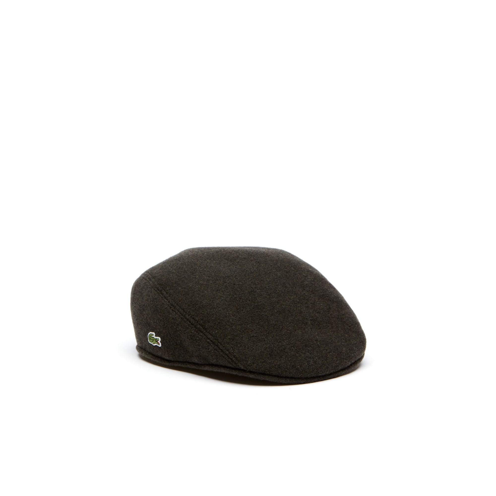 Flache Herren-Kappe aus gewalkter Wolle