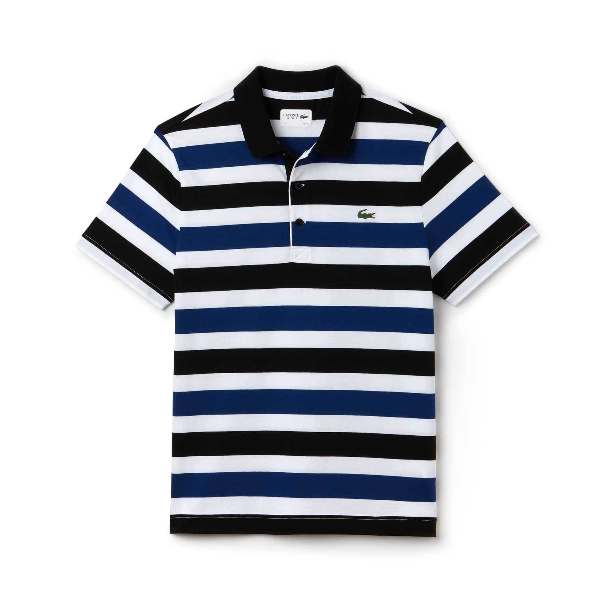 Herren LACOSTE SPORT gestreiftes Tennis-Poloshirt