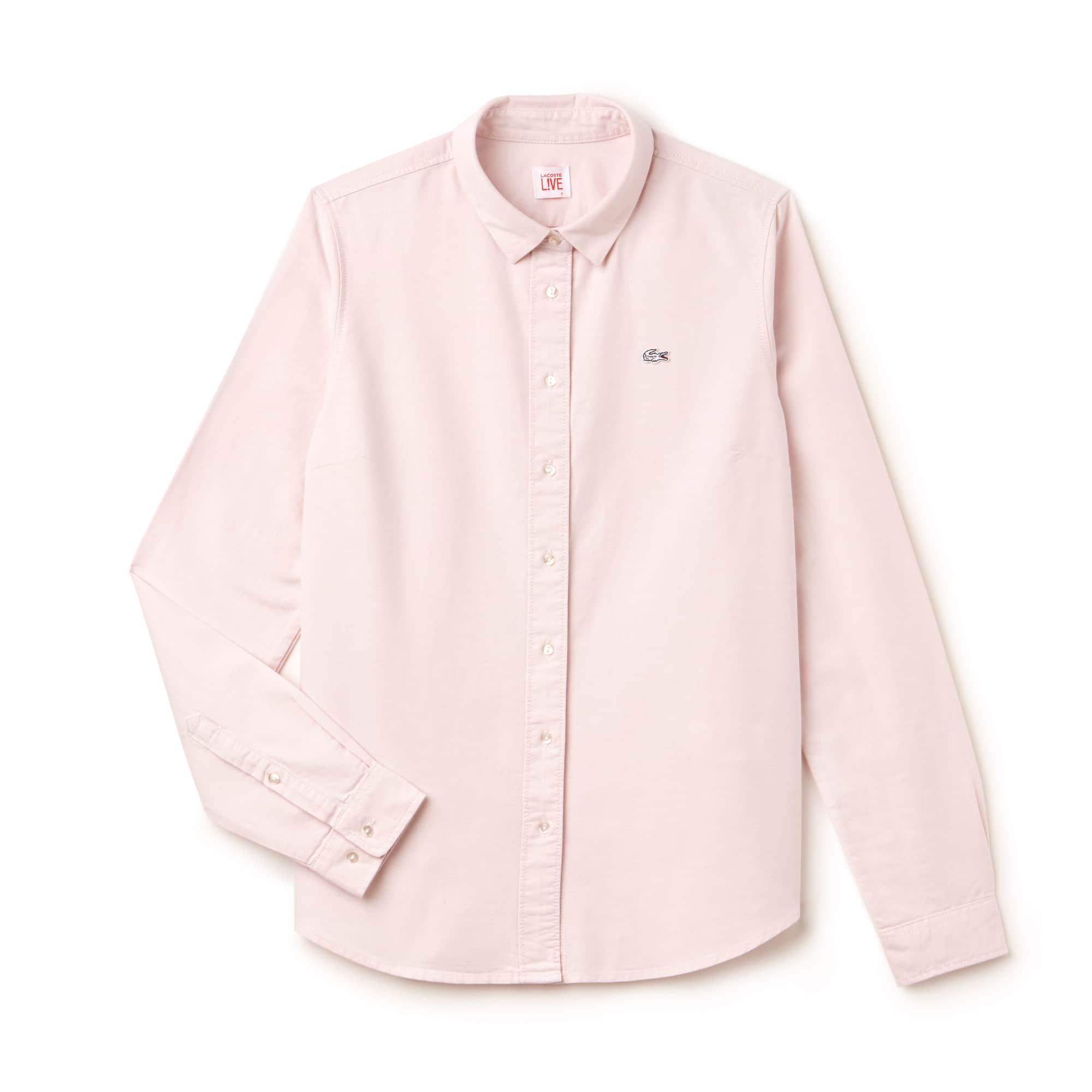Slim Fit Damen-Hemd aus Oxford-Baumwolle LACOSTE L!VE