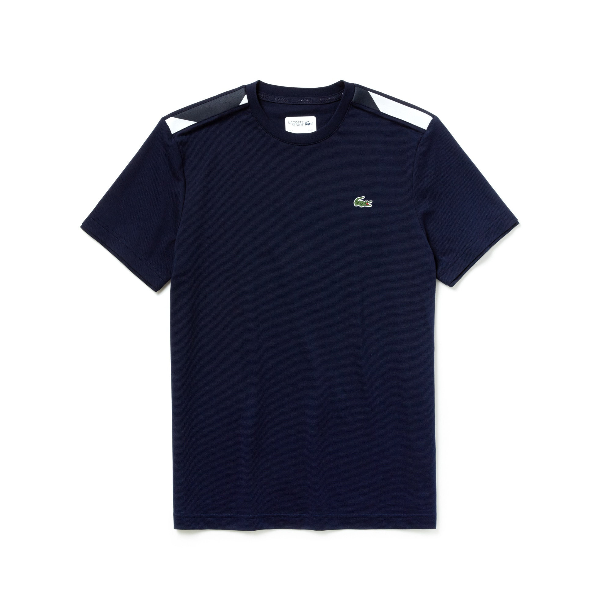 Herren LACOSTE SPORT Tennis-T-Shirt mit Kontrast-Akzenten