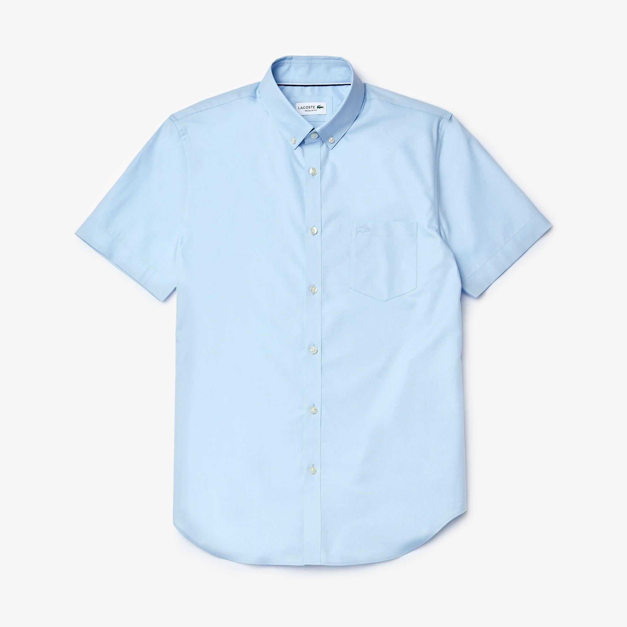 Regular Fit Herren-Hemd aus Mini-Piqué