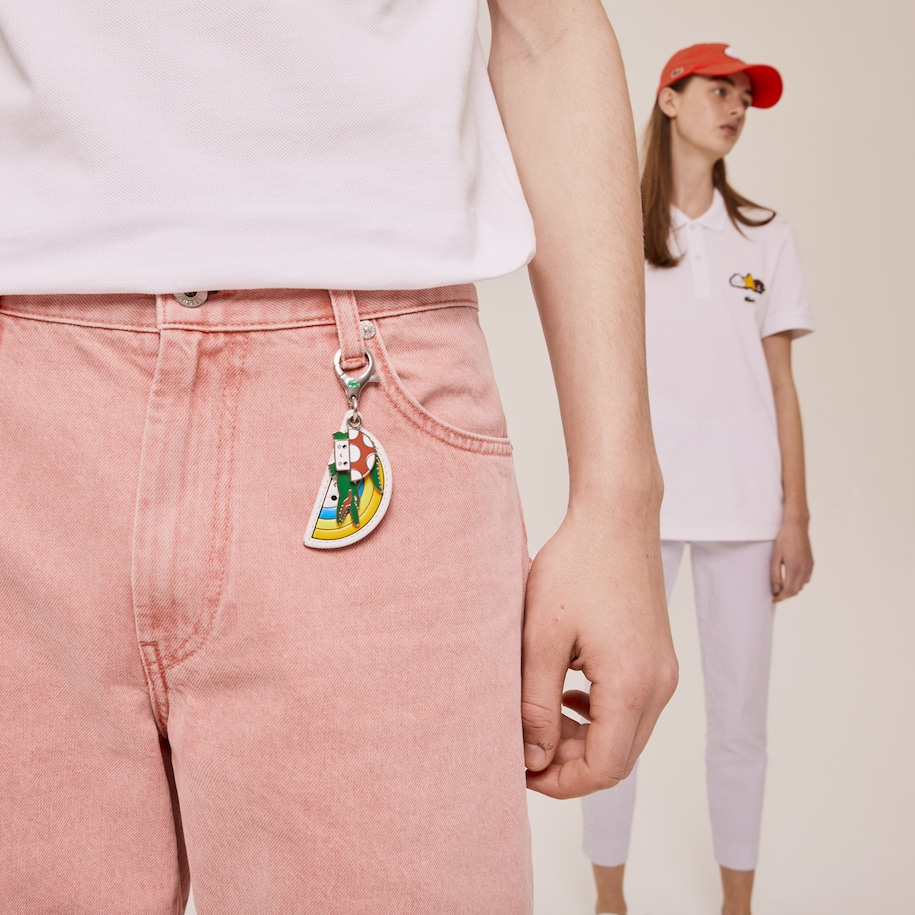 Men's Lacoste x FriendsWithYou Coloured Metal Charm Keyring