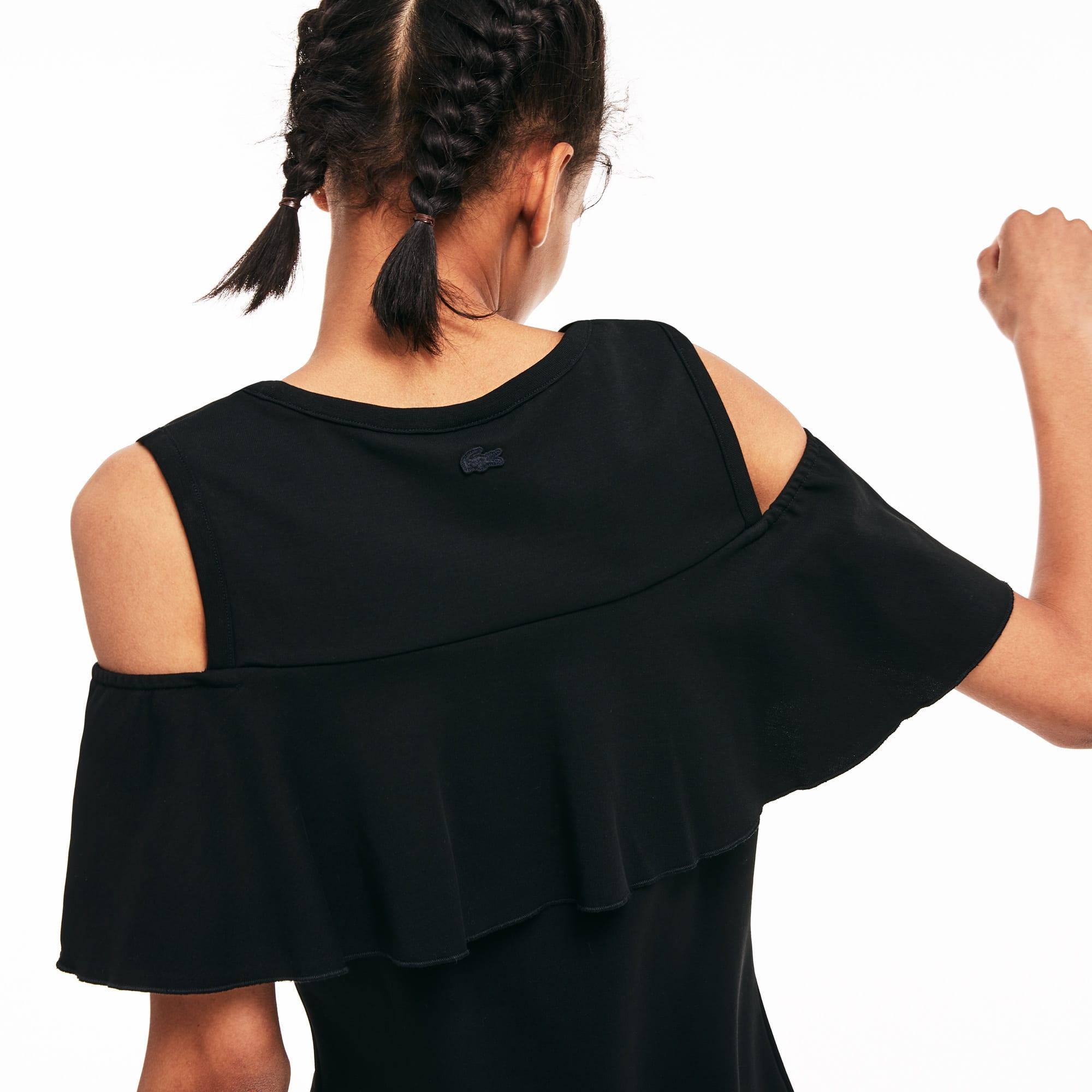 2090c21c1f Women's Lacoste LIVE Cutout Flounced Cotton Blend Tank Dress | LACOSTE