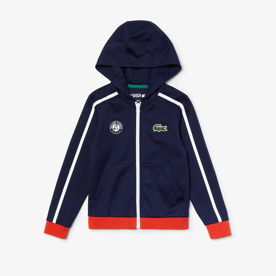 Girls' Lacoste SPORT Roland Garros Hooded Jacket