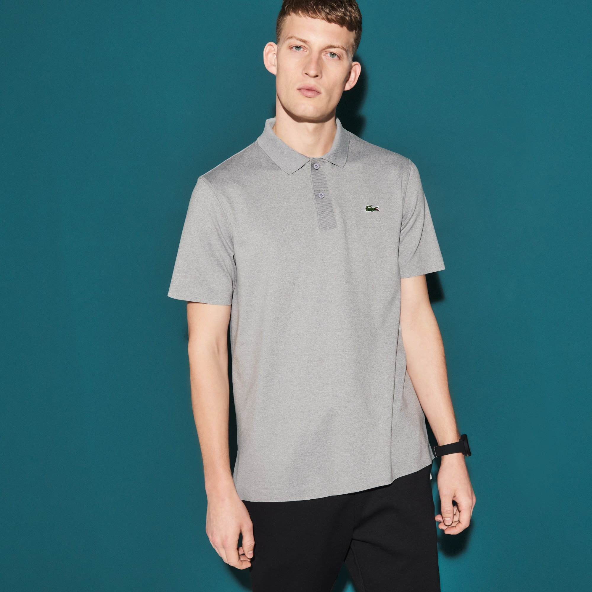 Men's Lacoste SPORT Flecked Stretch Jersey Tennis Polo
